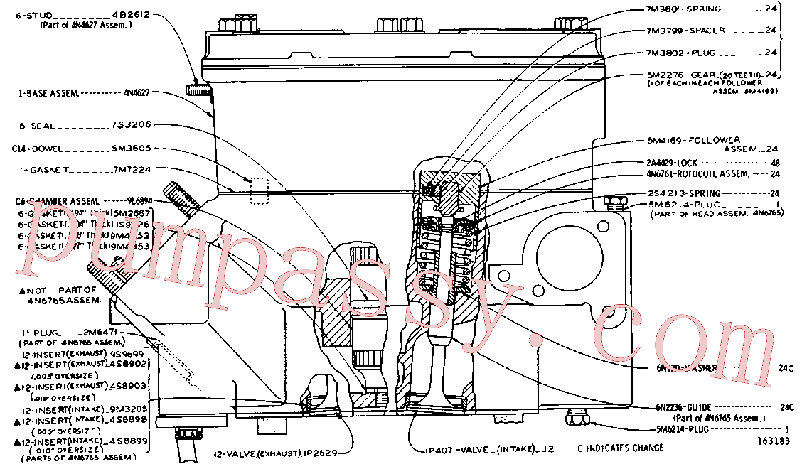 CAT 1D-4623 for 235 Excavator(EXC) basic engine 9L-5389 Assembly