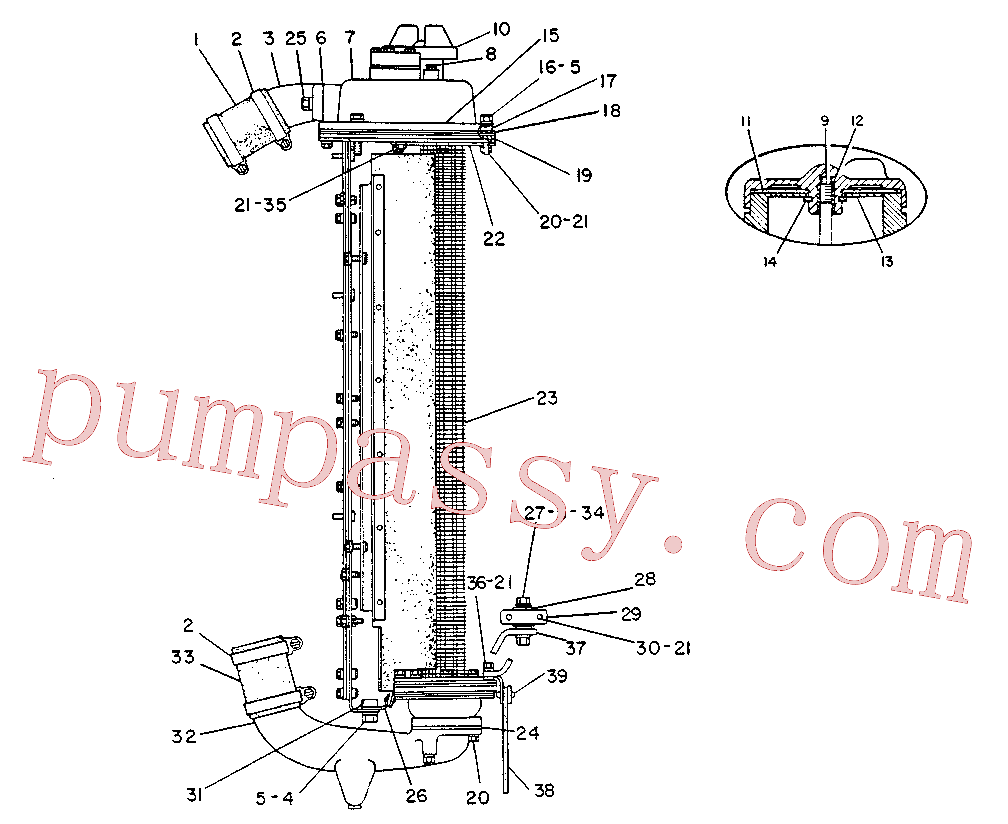 CAT 1P-6434 for 55 Winch(TTT) cooling system 7N-4541 Assembly