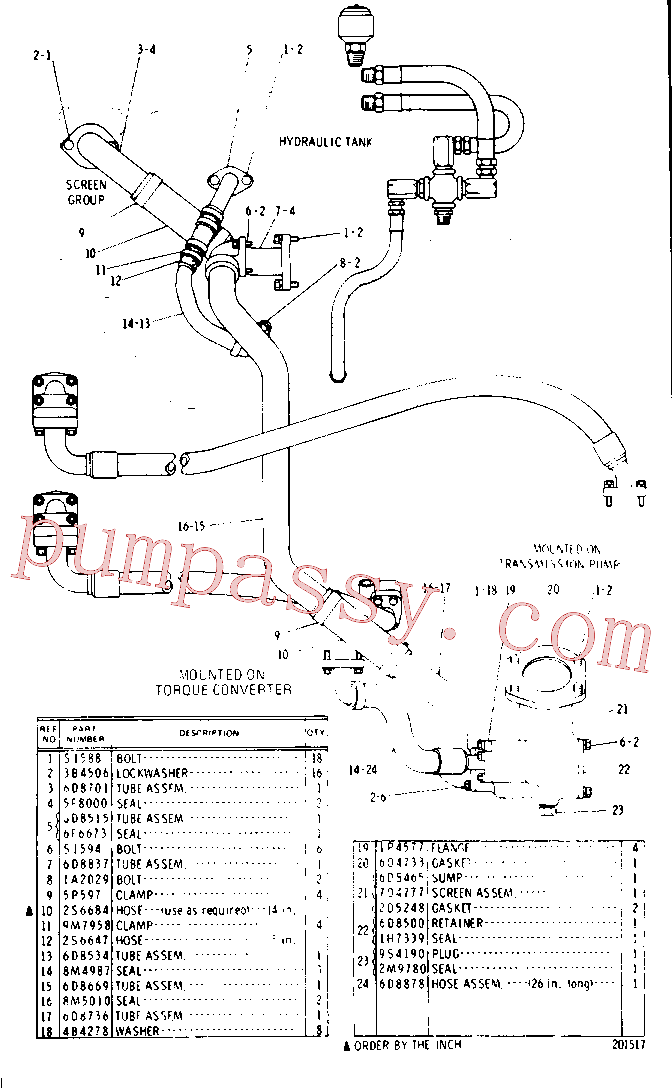 CAT 5P-1252 for 637D Wheel Scraper(WTS) chassis and undercarriage 9D-2635 Assembly