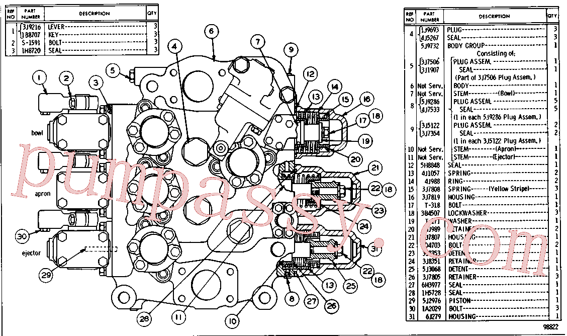 CAT 1B-8707 for 9U Bulldozer(TTT) transmission and chassis 6J-0641 Assembly