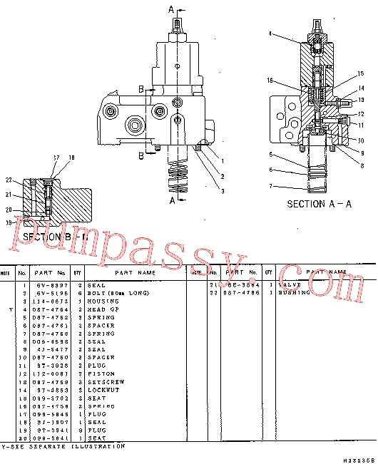 CAT 112-0081 for 322-A Excavator(EXC) hydraulic system 114-0670 Assembly