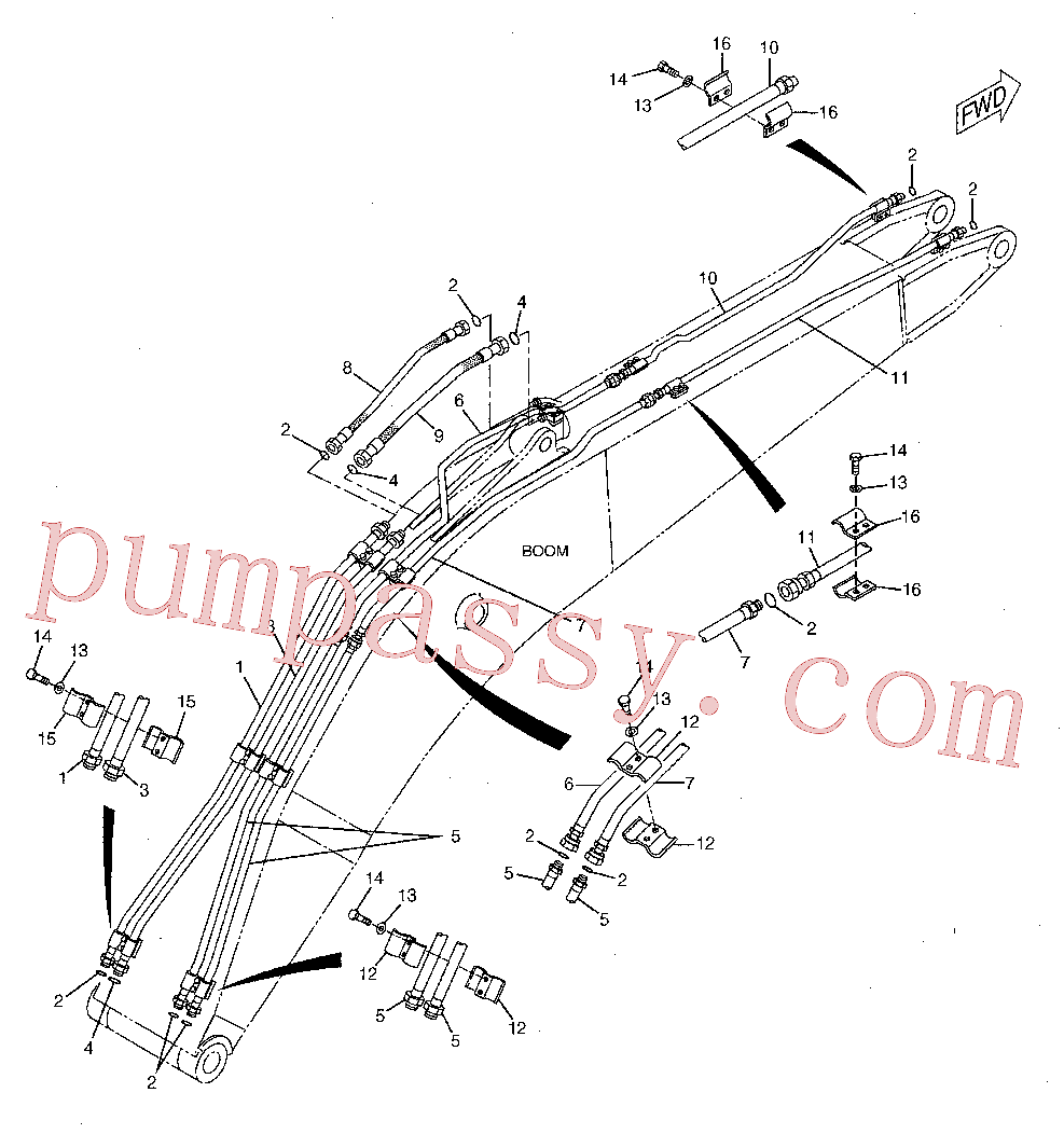 CAT 184-9252 for 320B L Excavator(EXC) hydraulic system 142-7759 Assembly