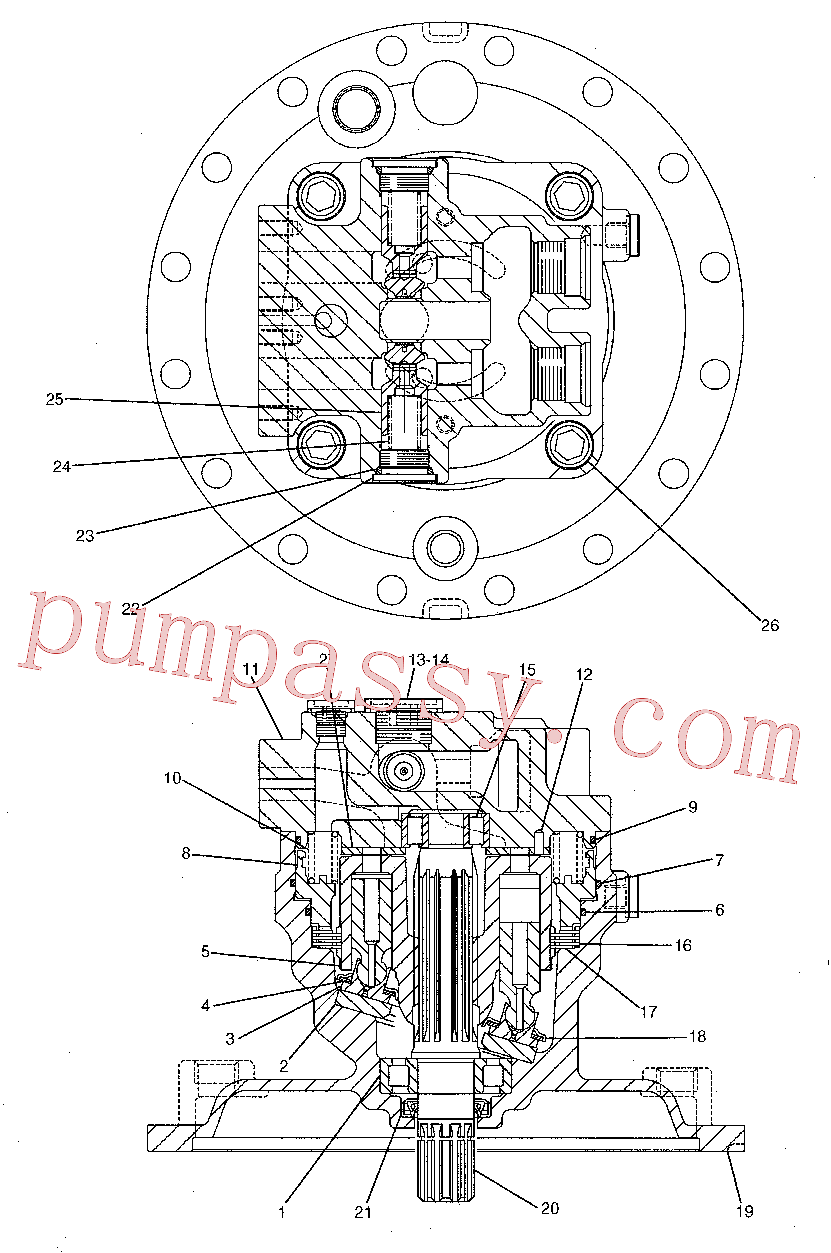 CAT 5I-8426 for 319D LN Excavator(EXC) hydraulic system 191-5542 Assembly