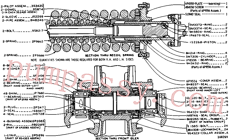 CAT 1A-1135 for PM622 Cold Planer(COLD) chassis and undercarriage 3P-1758 Assembly
