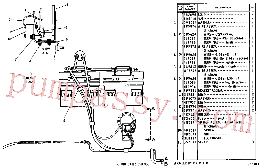 CAT 3S-8665 for G916 Wheel Loader(WTL) starting and electrical system 8A-3015 Assembly