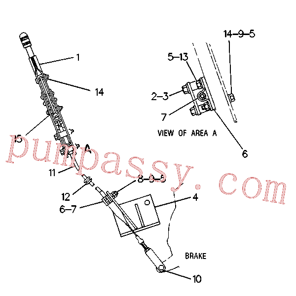 CAT 1P-3491 for 235 Excavator(EXC) power train 3V-4443 Assembly