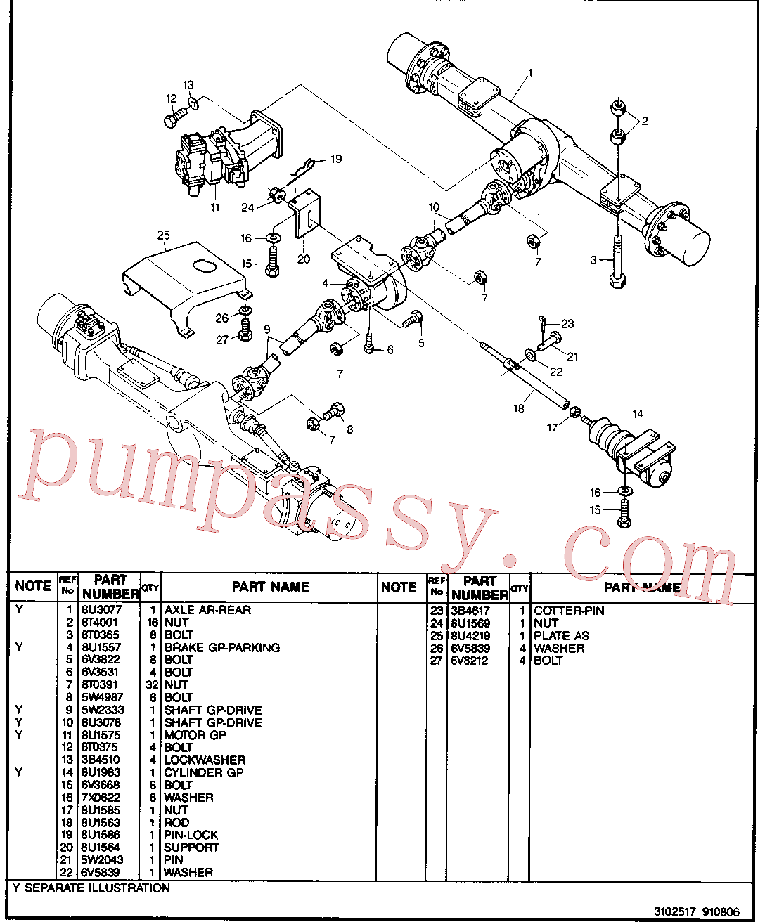 CAT 8U-2506 for M317F Excavator(EXC) chassis & undercarriage 8U-3057 Assembly