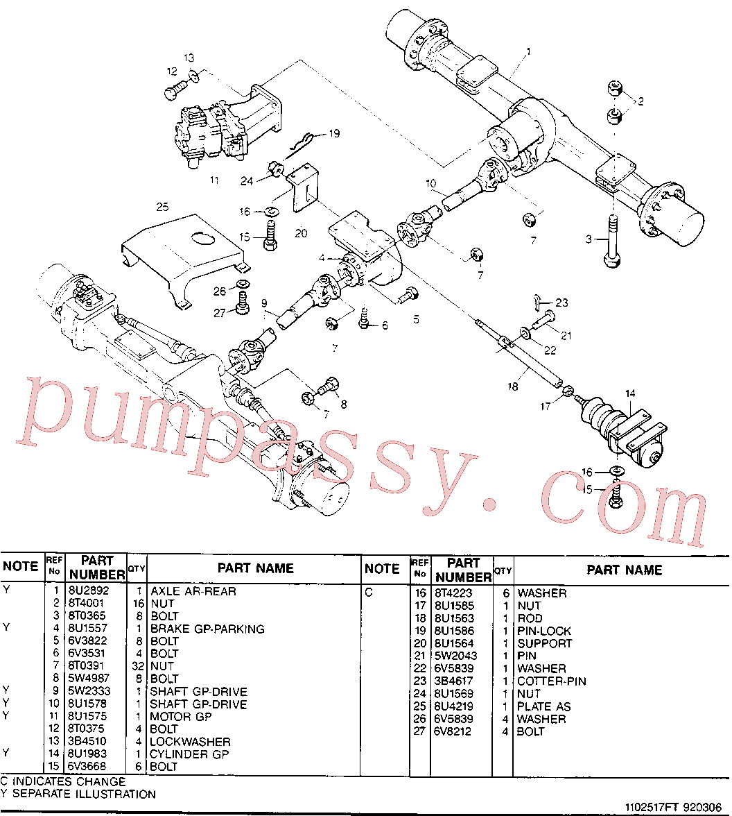 CAT 8U-2506 for M317F Excavator(EXC) chassis & undercarriage 8U-2879 Assembly