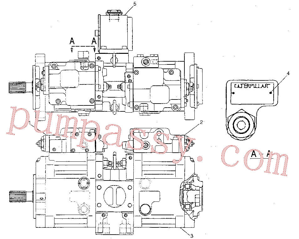 CAT 5I-8809 for 312B Excavator(EXC) hydraulic system 133-6717 Assembly
