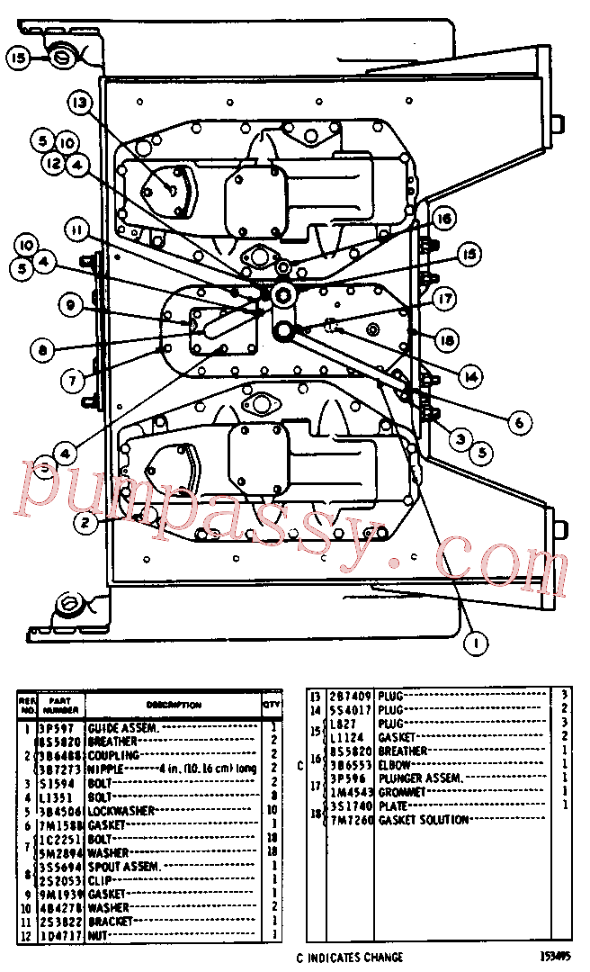 CAT 3S-8313 for 7A Bulldozer(TTT) chassis and undercarriage 3S-2035 Assembly