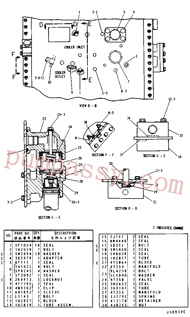 CAT 4F-7390 for 977L Track Loader(TTL) hydraulic system 3G-8104 Assembly
