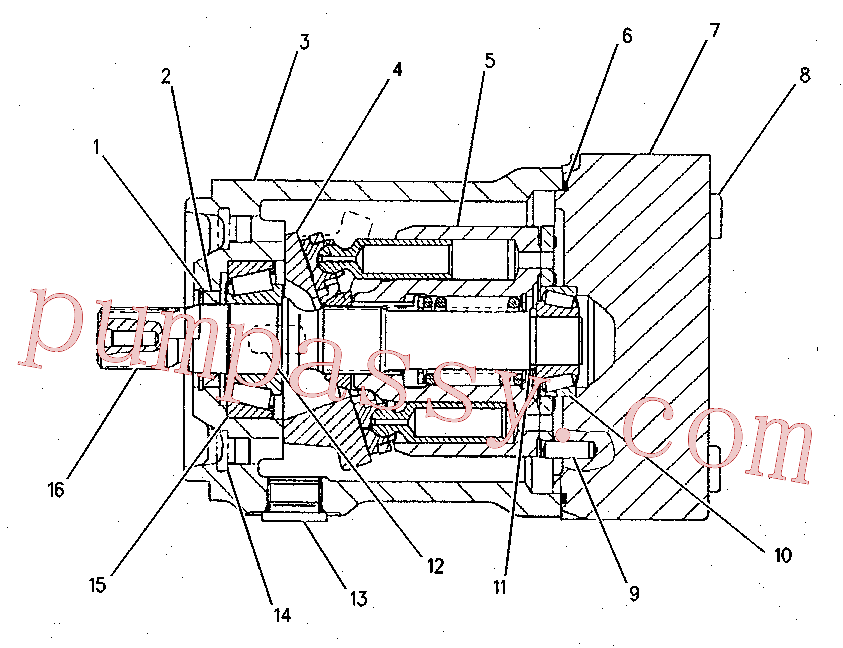 CAT 101-2862 for CX48-P2300 Petroleum Transmission(PETR) hydraulic system 155-9107 Assembly