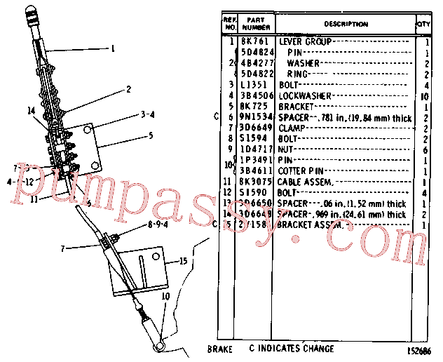 CAT 1P-3491 for 235 Excavator(EXC) chassis and undercarriage 8K-1591 Assembly