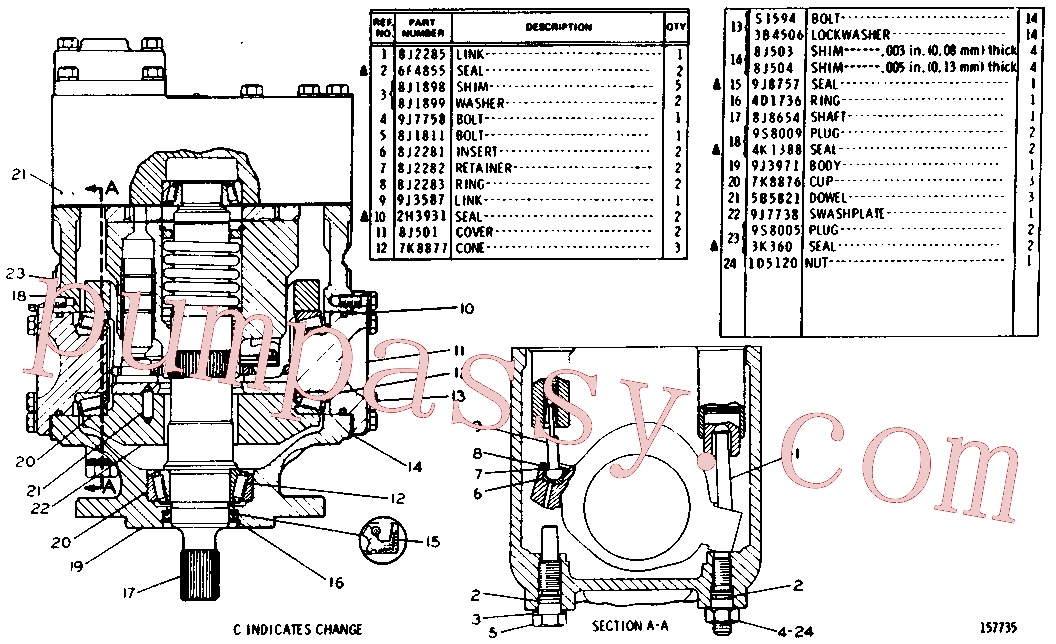 CAT 9J-8757 for 245B Excavator(EXC) hydraulic system 9J-9362 Assembly