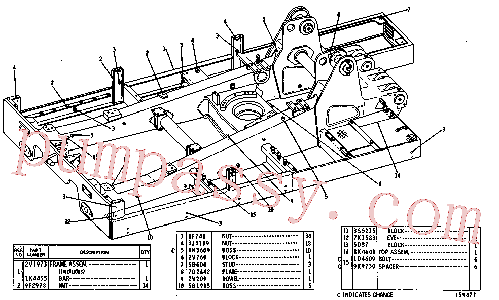 CAT 1J-4384 for 181 Hydraulic Control(TTT) chassis and undercarriage 8K-1748 Assembly