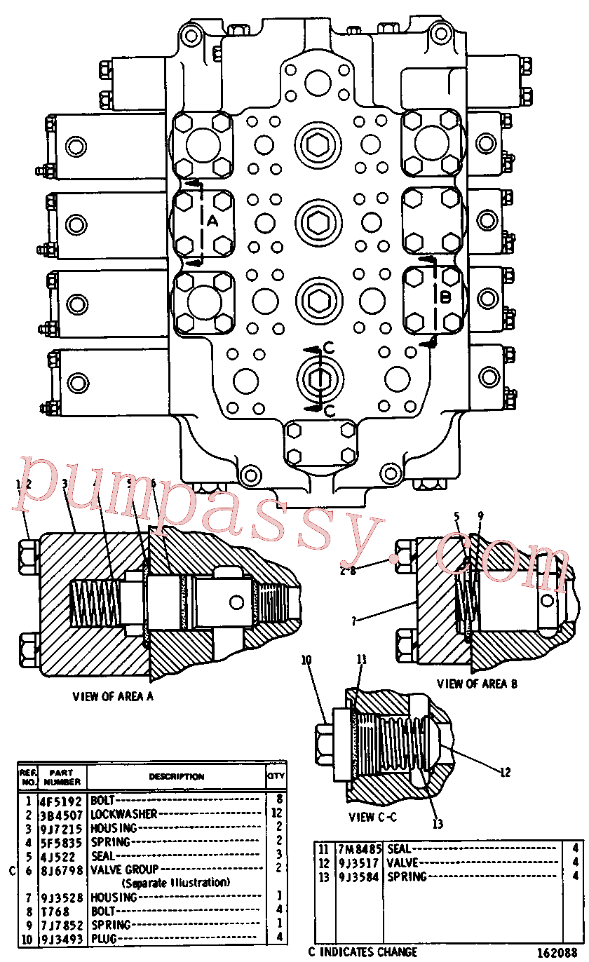 CAT 8J-0322 for 229D Excavator(EXC) hydraulic system 8J-8610 Assembly