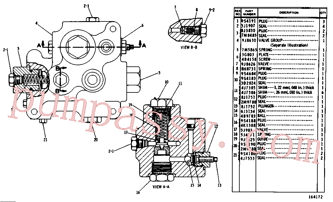 CAT 9J-8626 for 225 Excavator(EXC) hydraulic system 3G-0619 Assembly