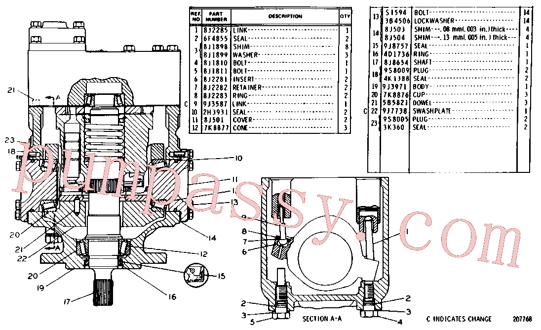 CAT 9J-8757 for 225 Excavator(EXC) hydraulic system 8J-8723 Assembly