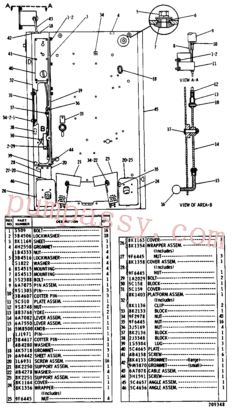 CAT 9F-6445 for 58L Winch(TTT) chassis and undercarriage 6A-5402 Assembly
