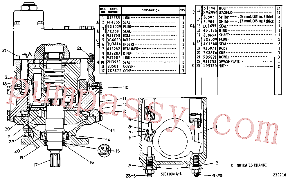 CAT 9J-8757 for 227 Logger(FP) hydraulic system 3G-3287 Assembly