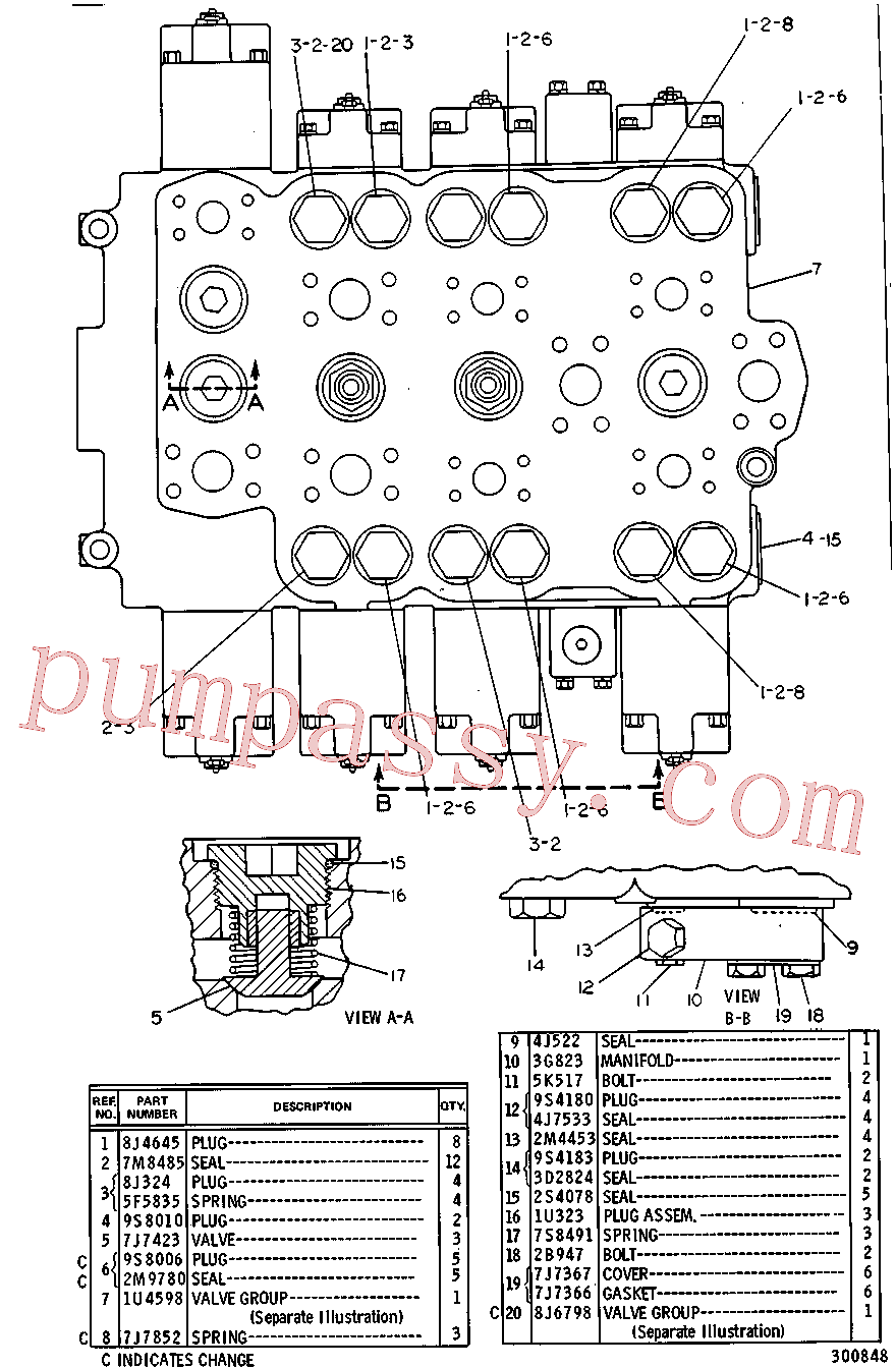 CAT 9J-6334 for 235 Excavator(EXC) hydraulic system 1U-4597 Assembly