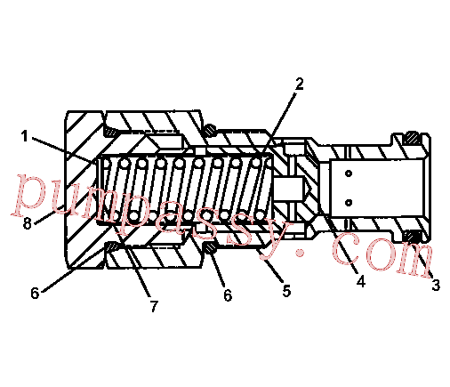 CAT 5I-4113 for 325-A L Excavator(EXC) hydraulic system 5I-4114 Assembly