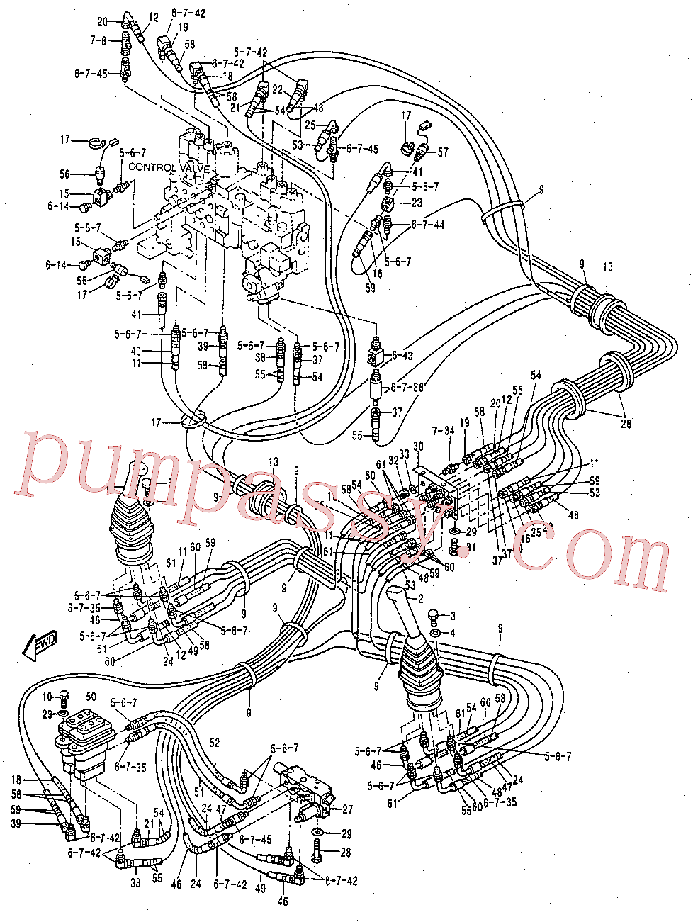 CAT 124-1104 for 320B Excavator(EXC) hydraulic system 119-2390 Assembly