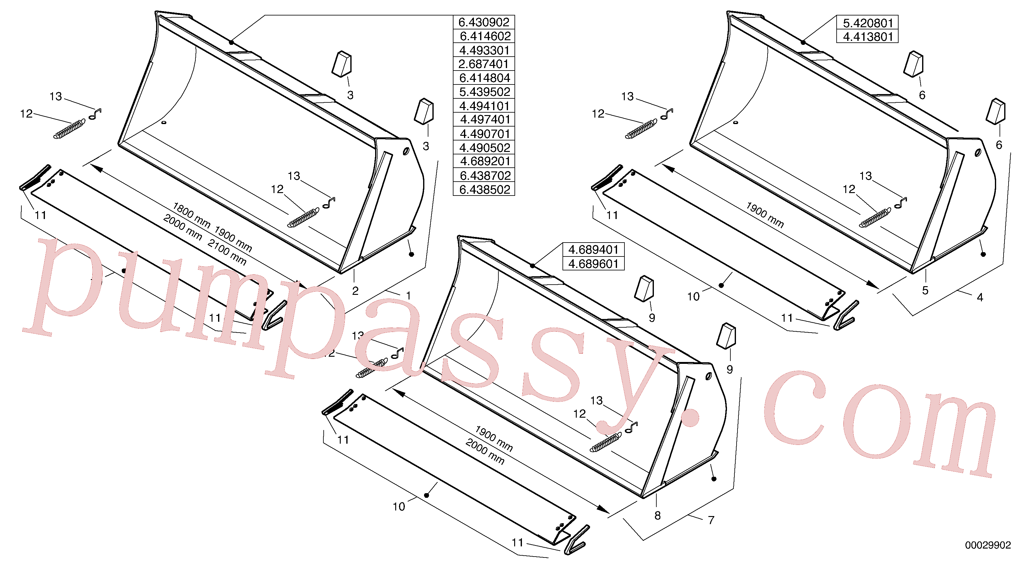 ZM2814322 for Volvo Bucket without teeth(00029902 assembly)