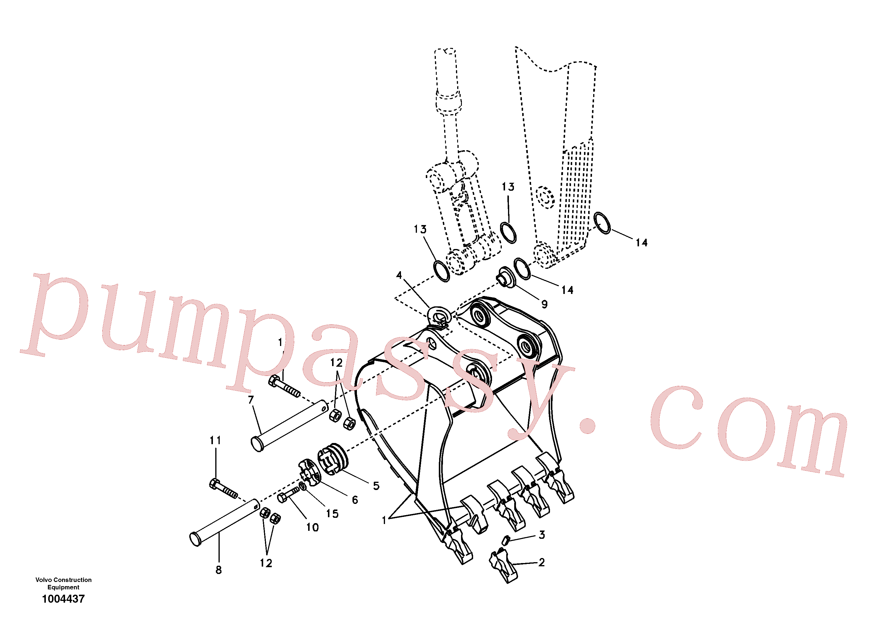 SA9213-20000 for Volvo Bucket(1004437 assembly)