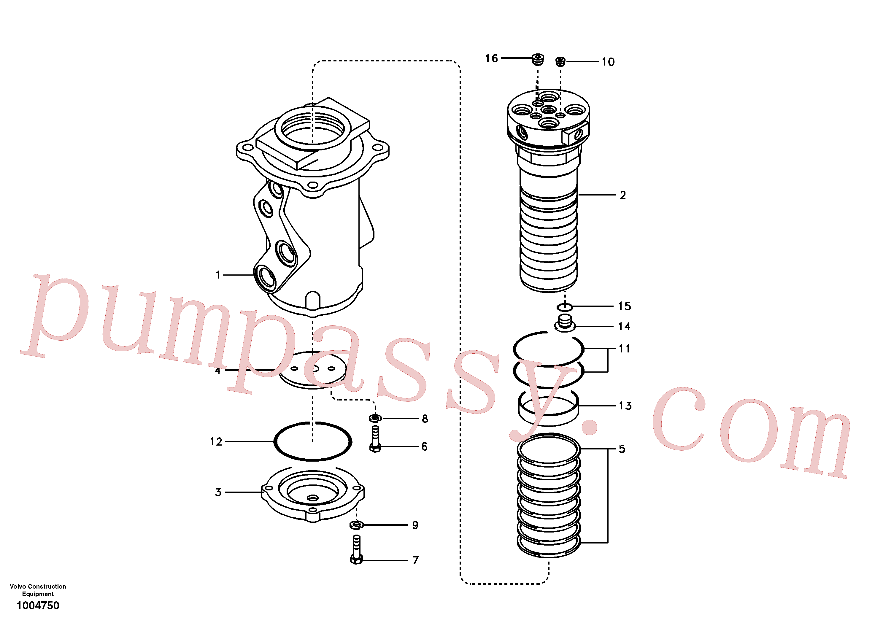 VOE14507705 for Volvo Turning joint(1004750 assembly)