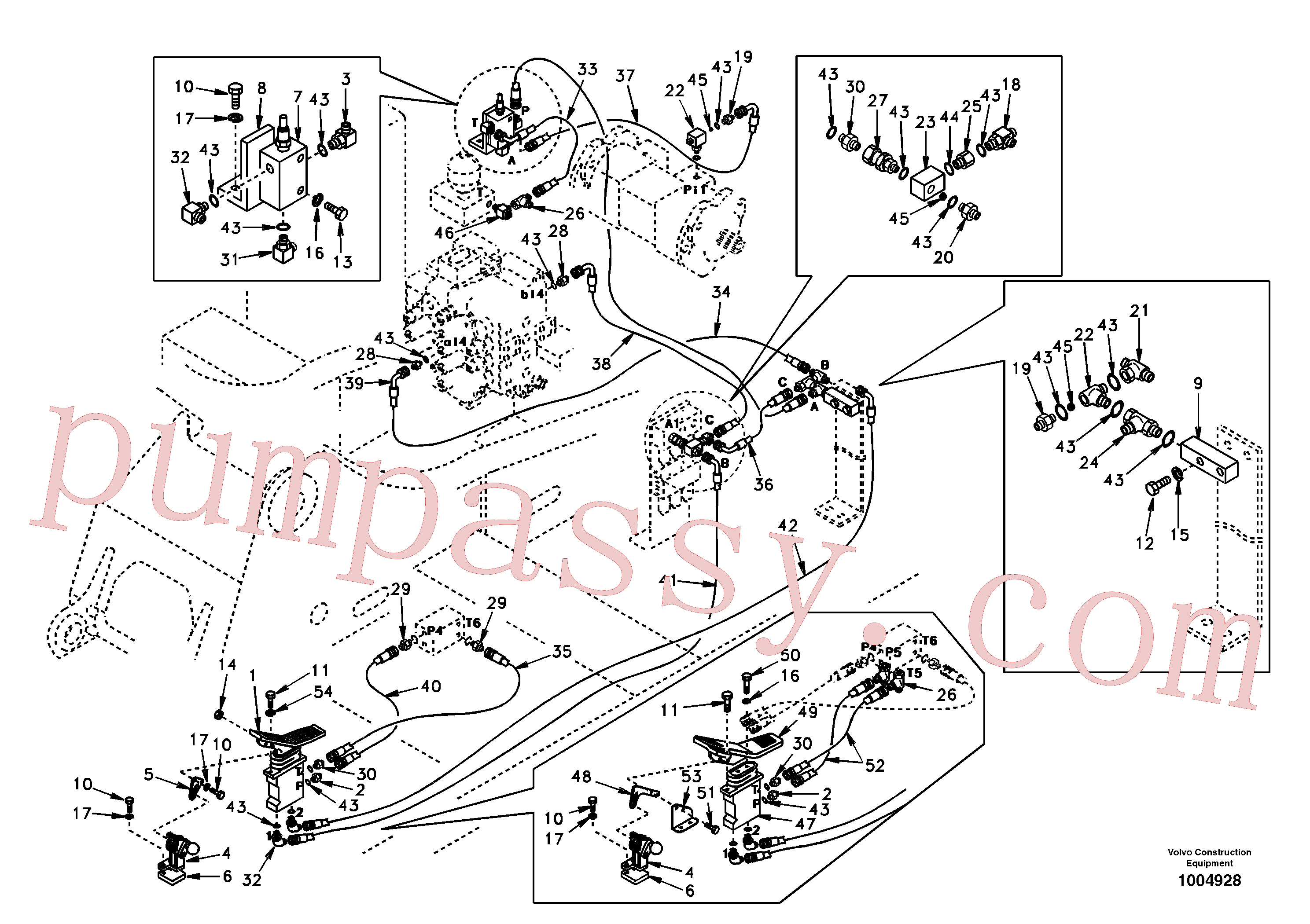 SA9451-02345 for Volvo Working hydraulic, hammer and shear for 1st pump flow(1004928 assembly)