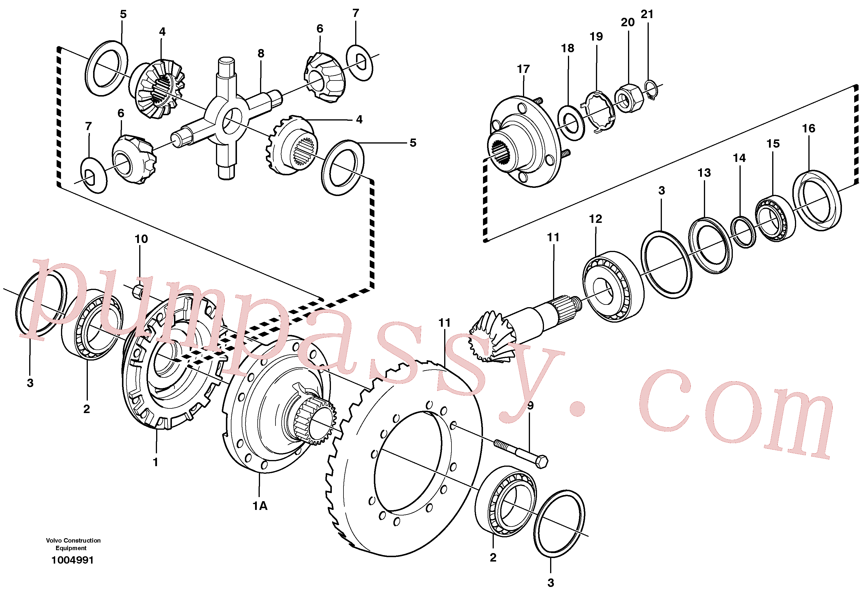 VOE11168088 for Volvo Final drive, front(1004991 assembly)