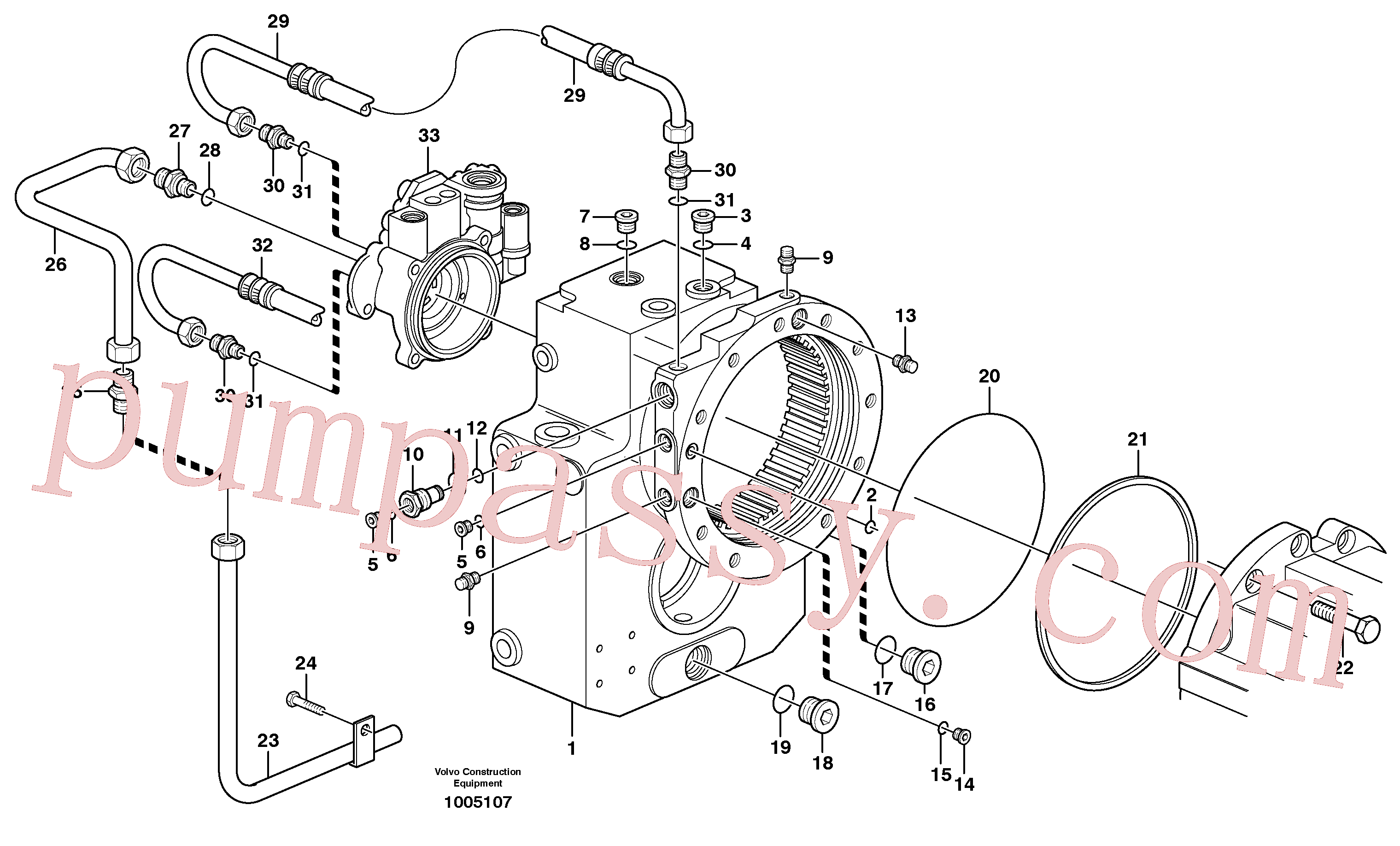 VOE11705116 for Volvo Transfer gear box(1005107 assembly)