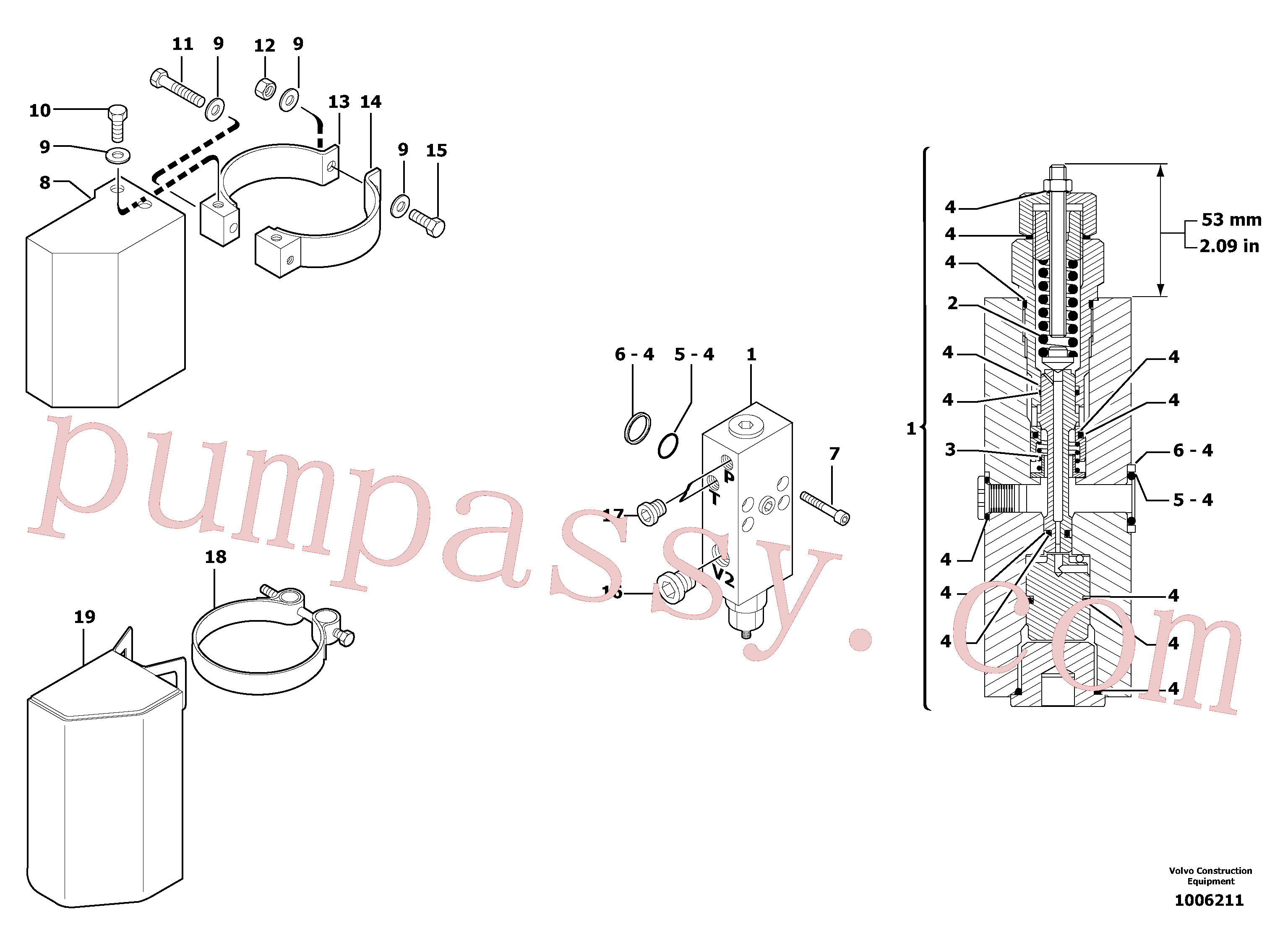 PJ7416941 for Volvo Safety valve ( boom cylinder )(1006211 assembly)