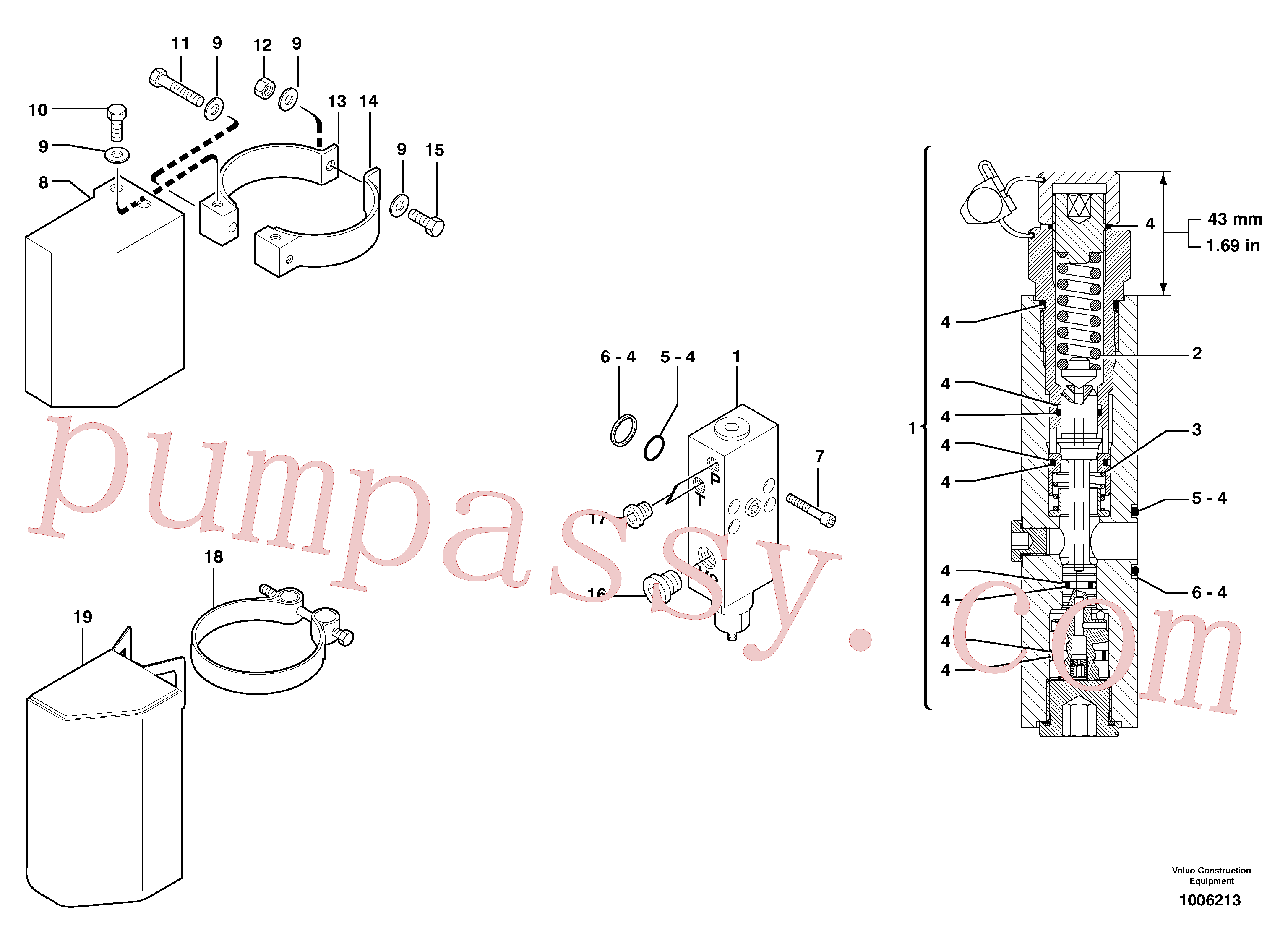 PJ7416941 for Volvo Safety valve ( boom cylinder )(1006213 assembly)