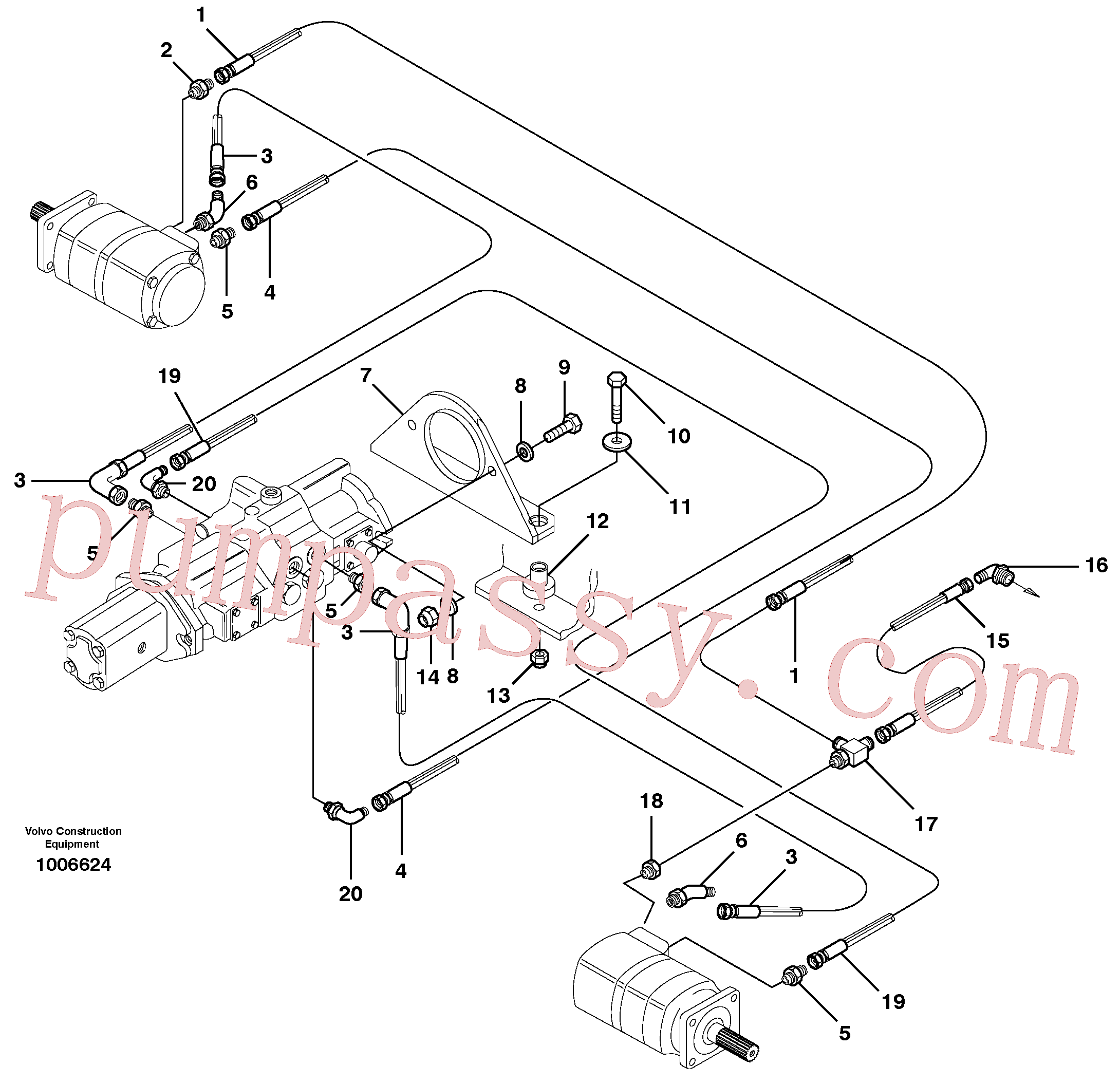 VOE11841167 for Volvo Hydraulic system Transport(1006624 assembly)