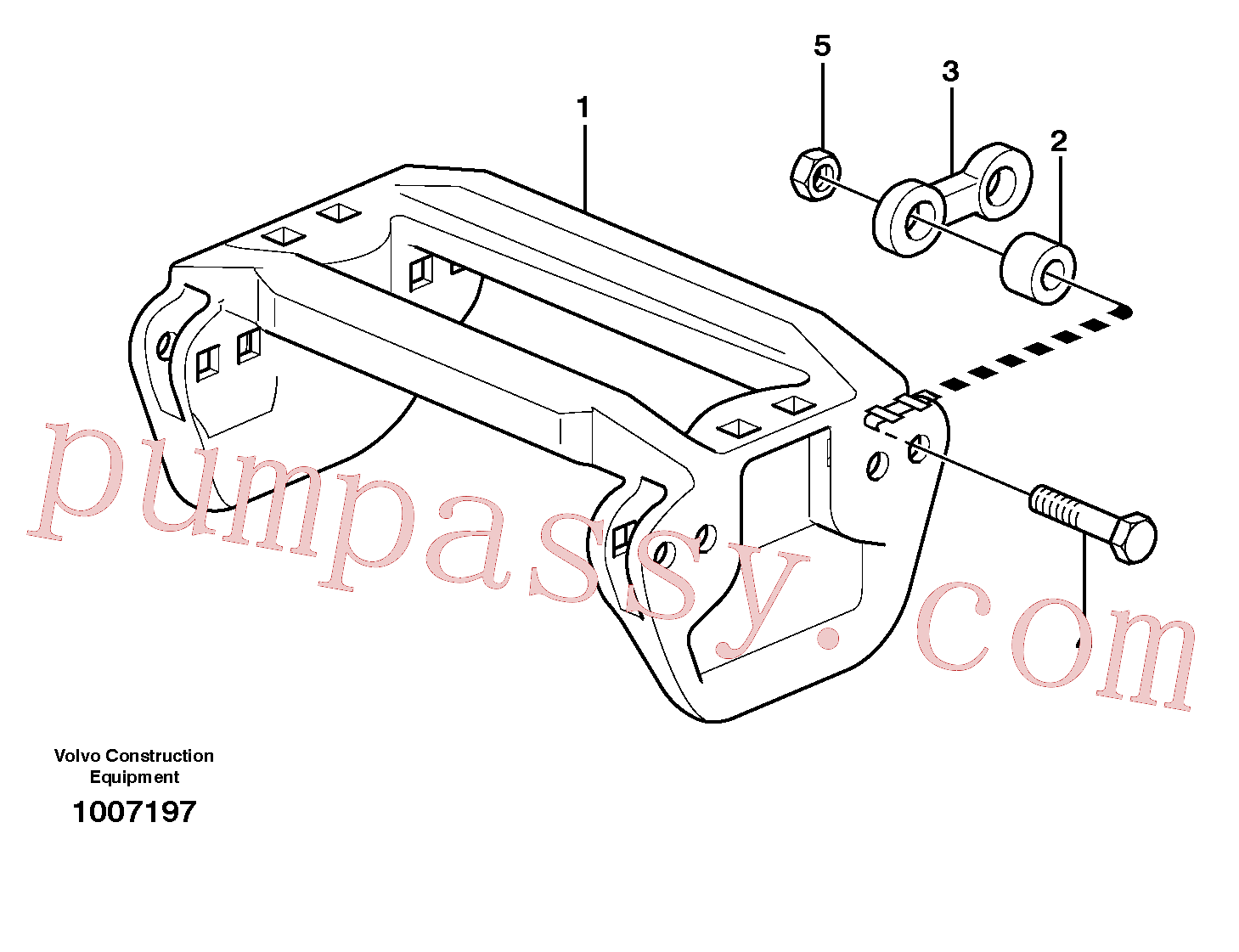 VOE14102830 for Volvo Track equipment(1007197 assembly)