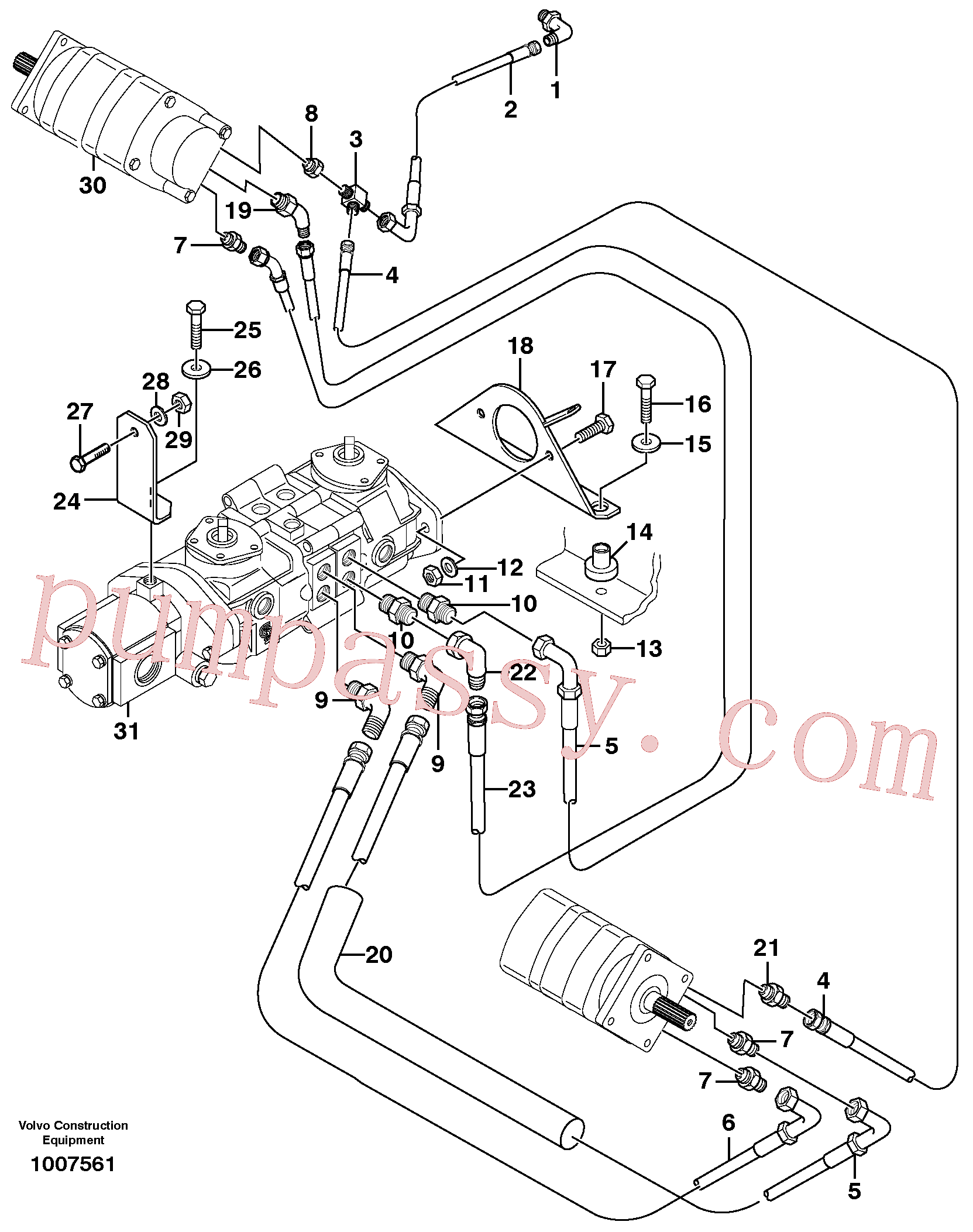 VOE11841125 for Volvo Hydraulic system Transport(1007561 assembly)