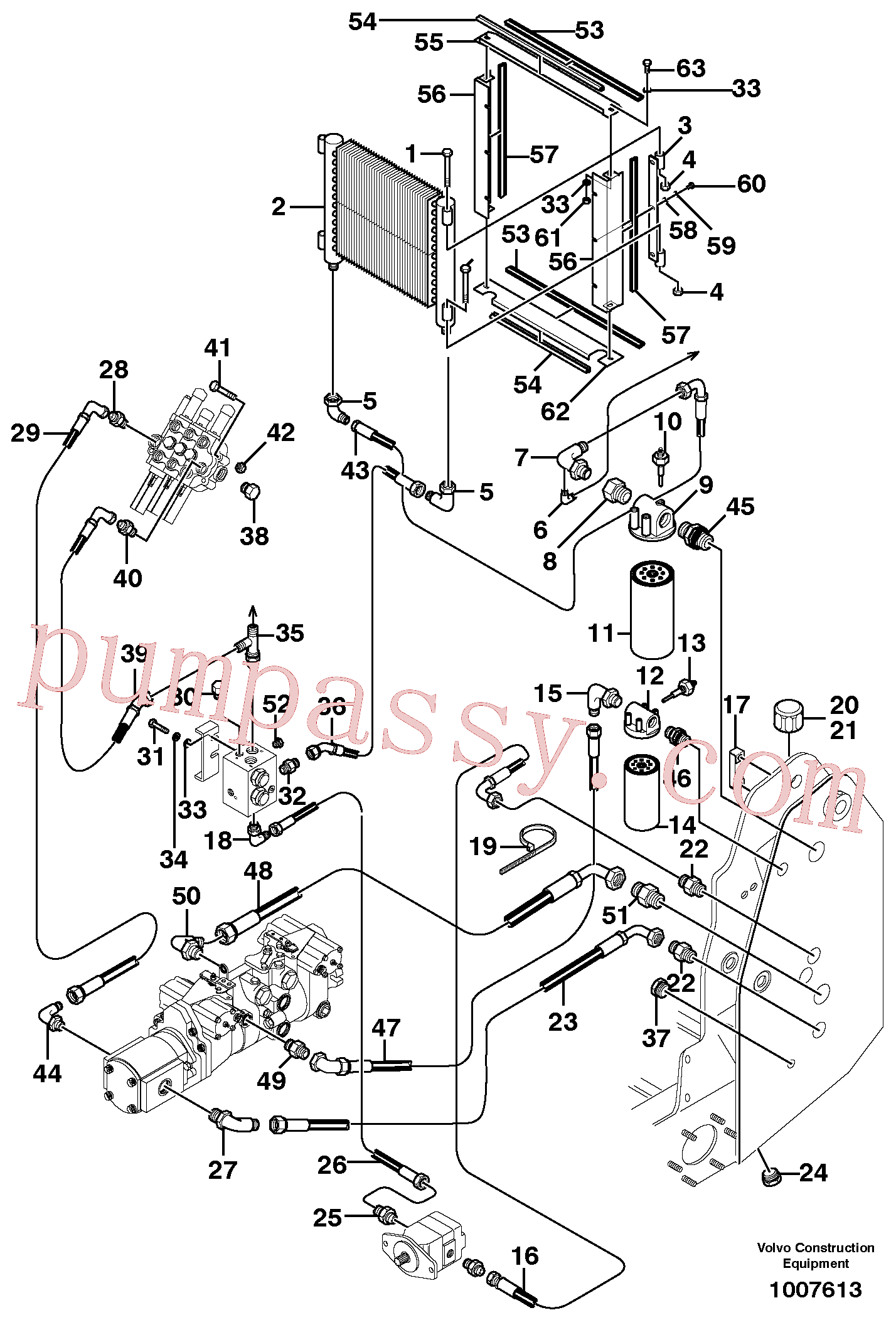 VOE955541 for Volvo Supply/return and Cooling Circuits(1007613 assembly)