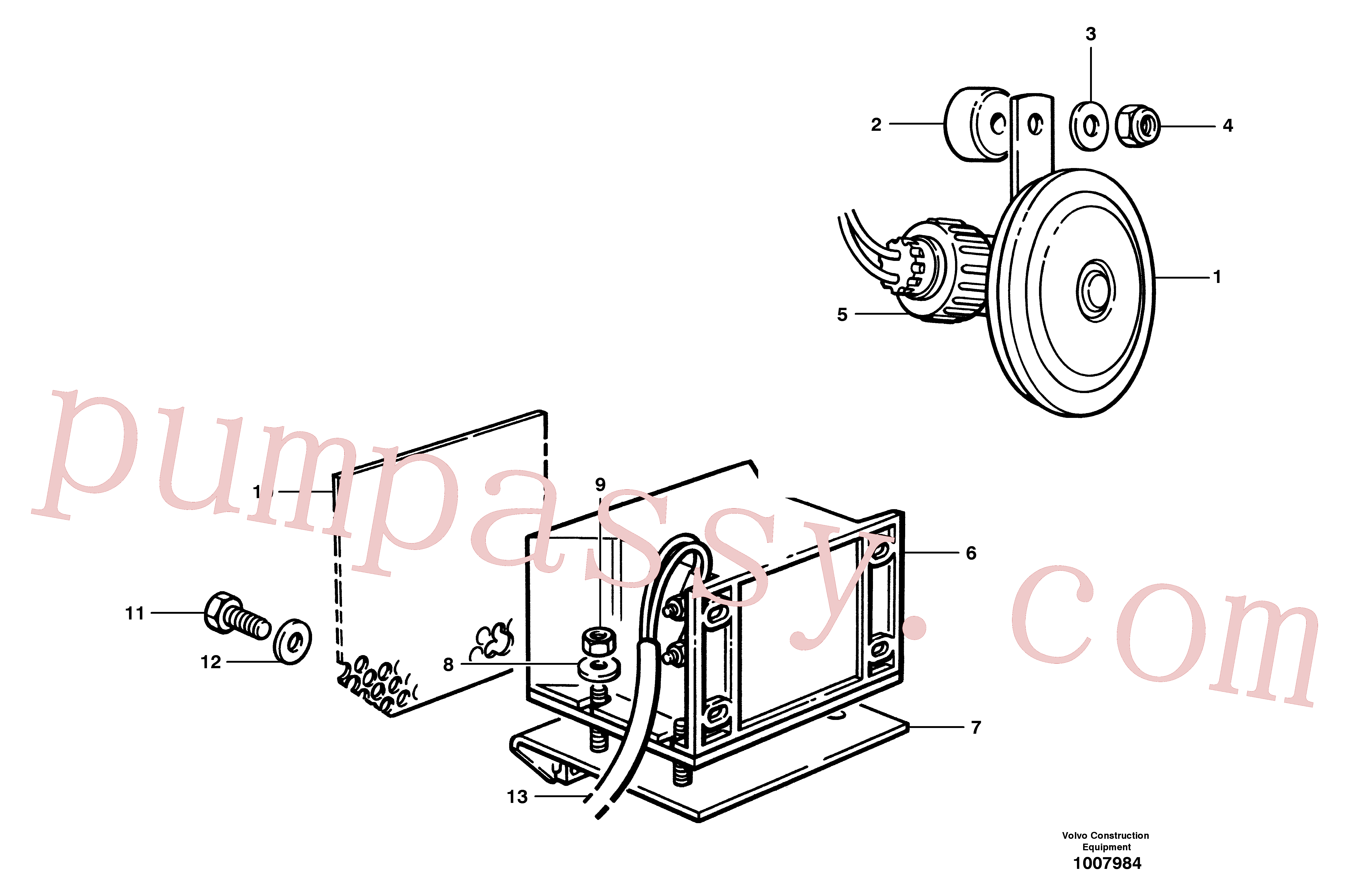CH350A-10030ZI for Volvo Horn and back-up warning(1007984 assembly)