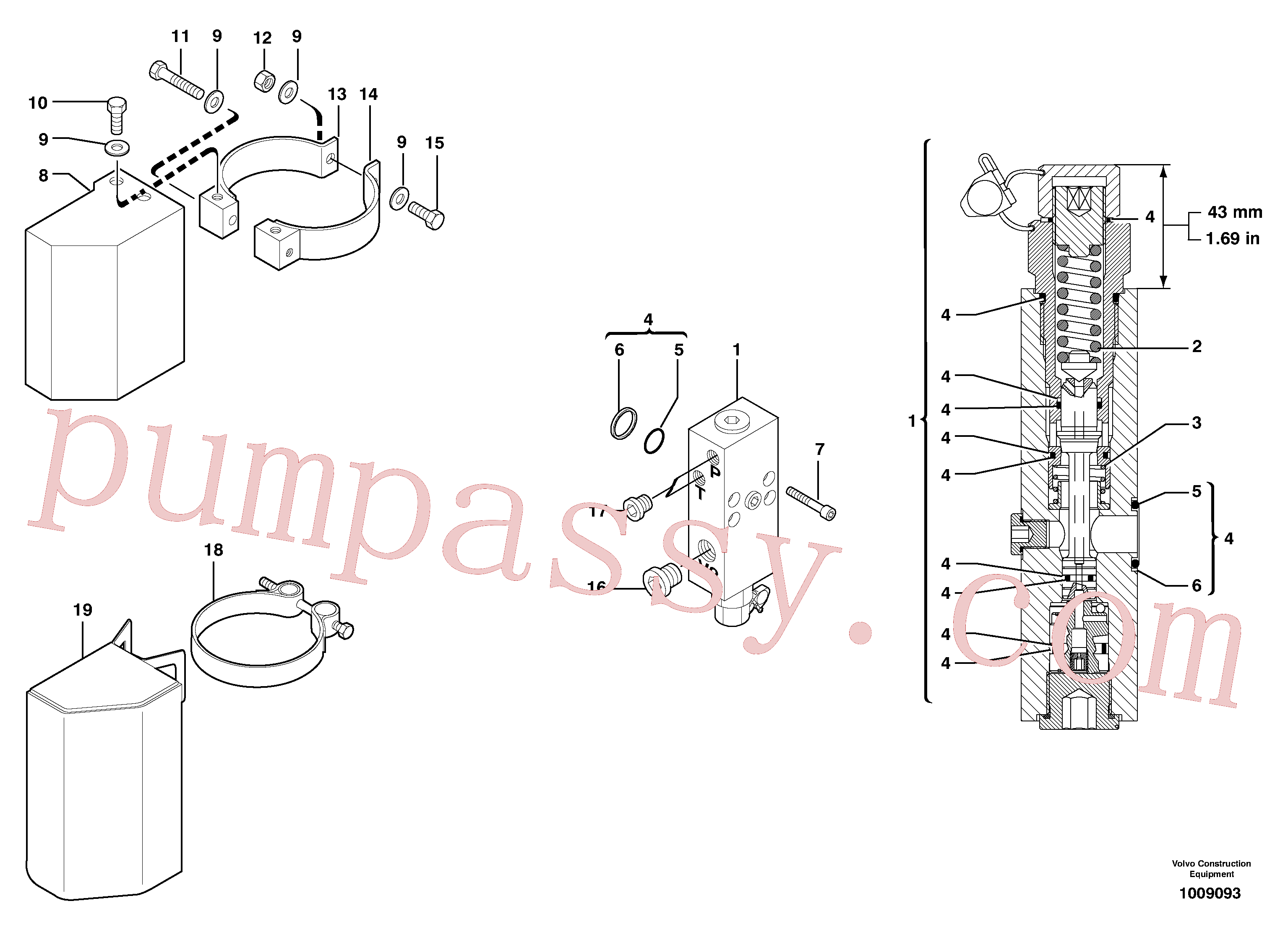 PJ7416941 for Volvo Safety valve ( boom cylinder )(1009093 assembly)