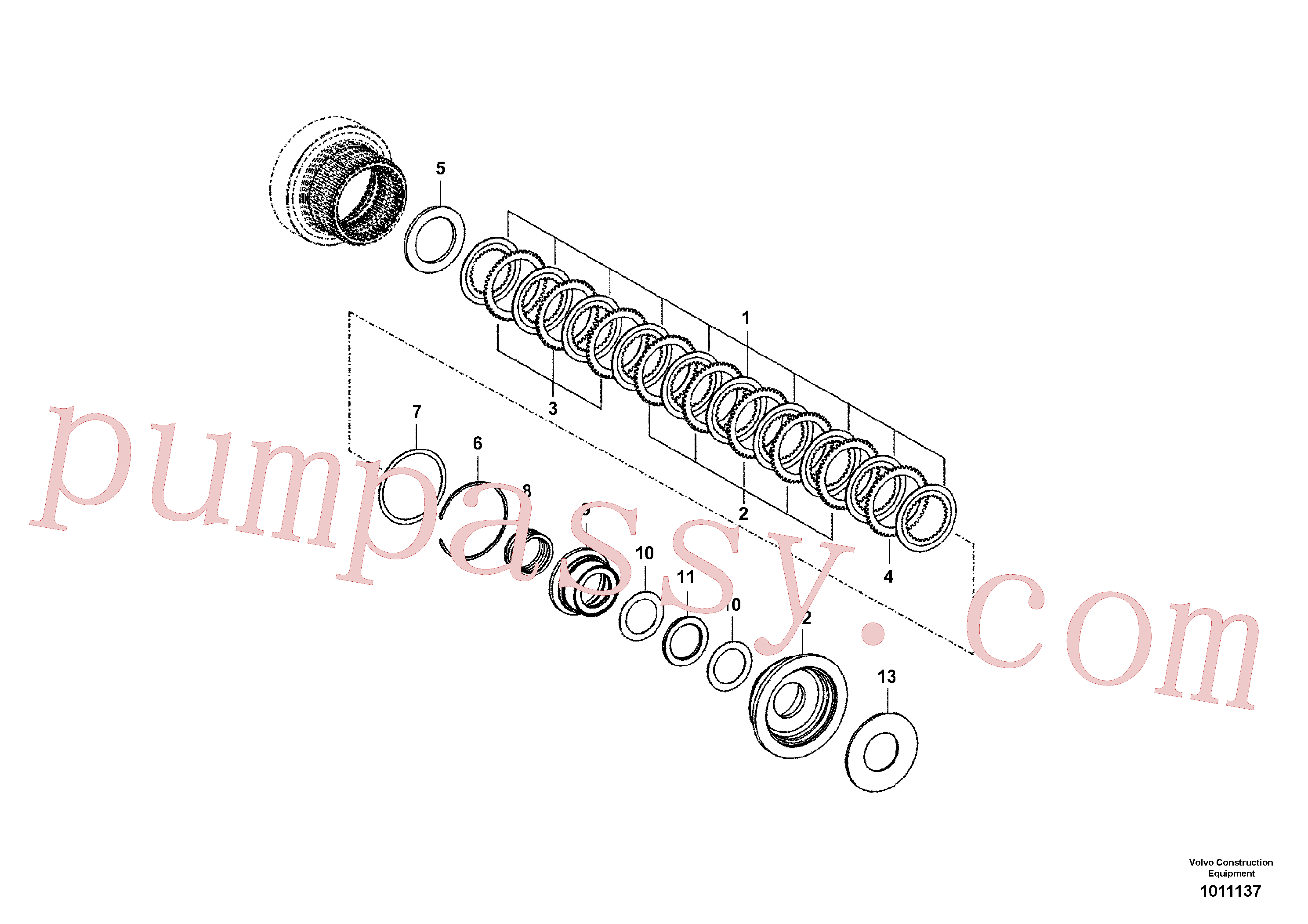 SA8320-02810 for Volvo Coupling(1011137 assembly)