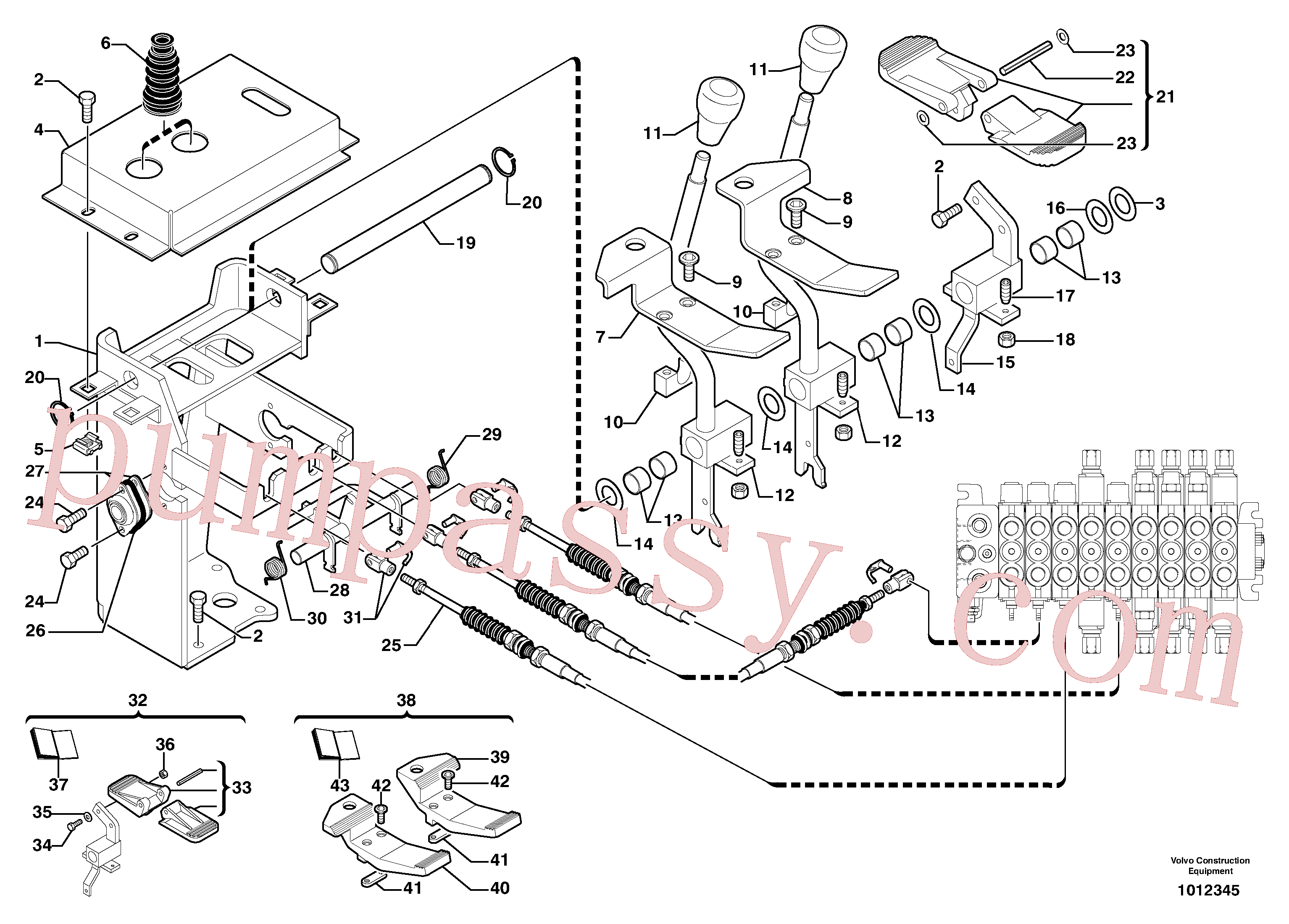 PJ4490021 for Volvo Control levers : steel pedal(1012345 assembly)