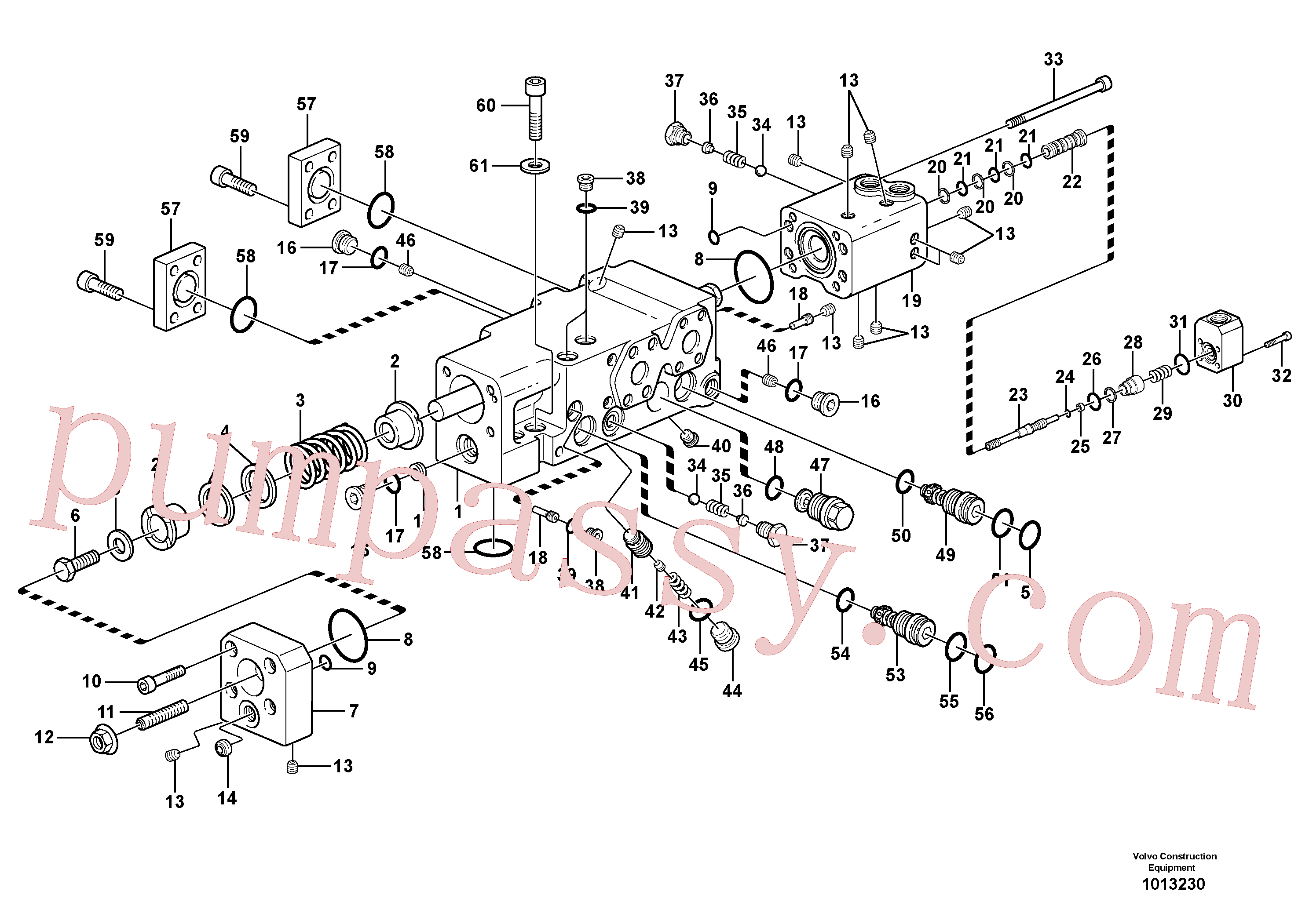 VOE11704902 for Volvo Control valve(1013230 assembly)