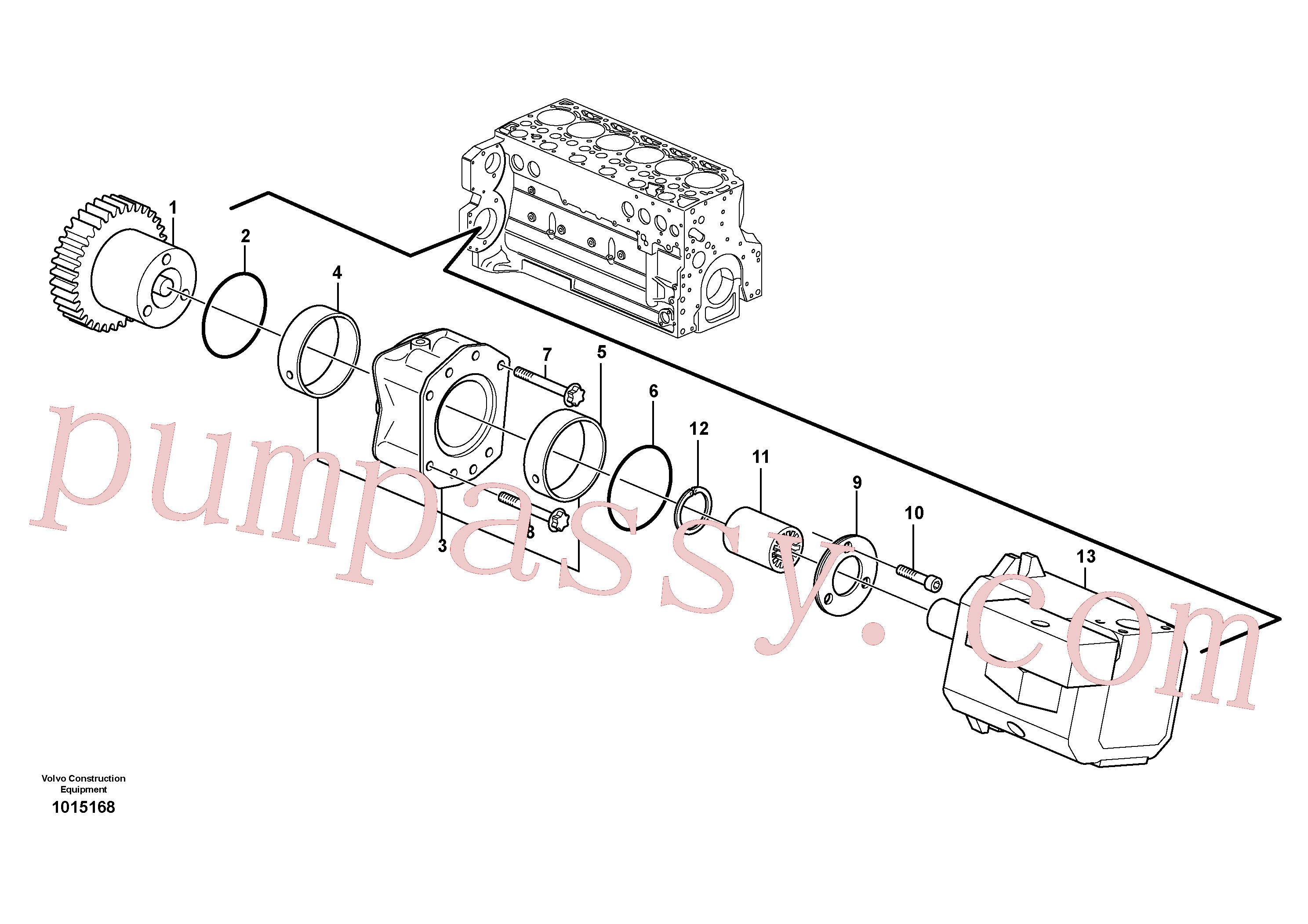 VOE20450805 for Volvo Pump drive power take-off(1015168 assembly)