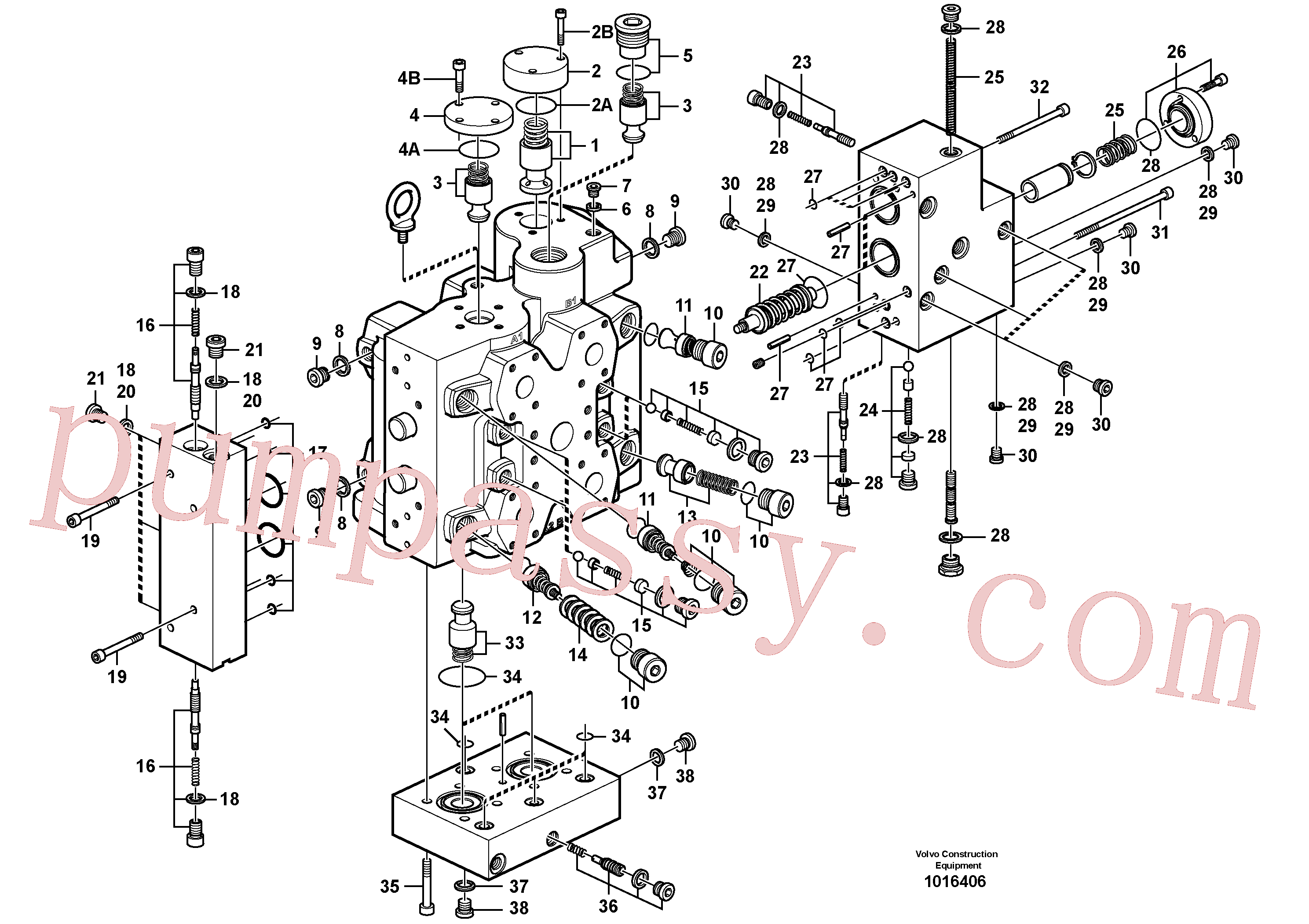 VOE11705092 for Volvo Control valve, Control valve.(1016406 assembly)