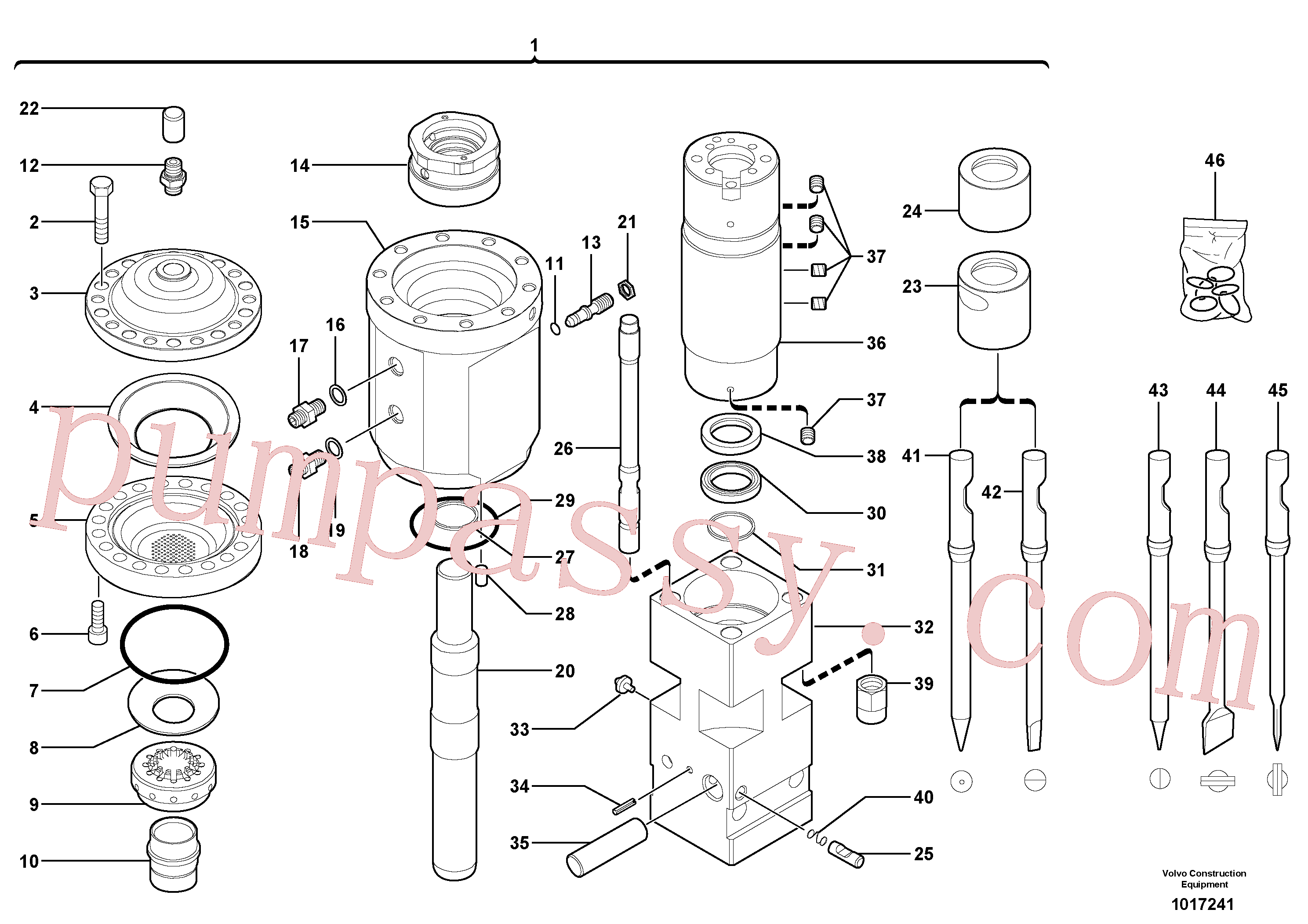 VOE11716166 for Volvo Hammer(1017241 assembly)