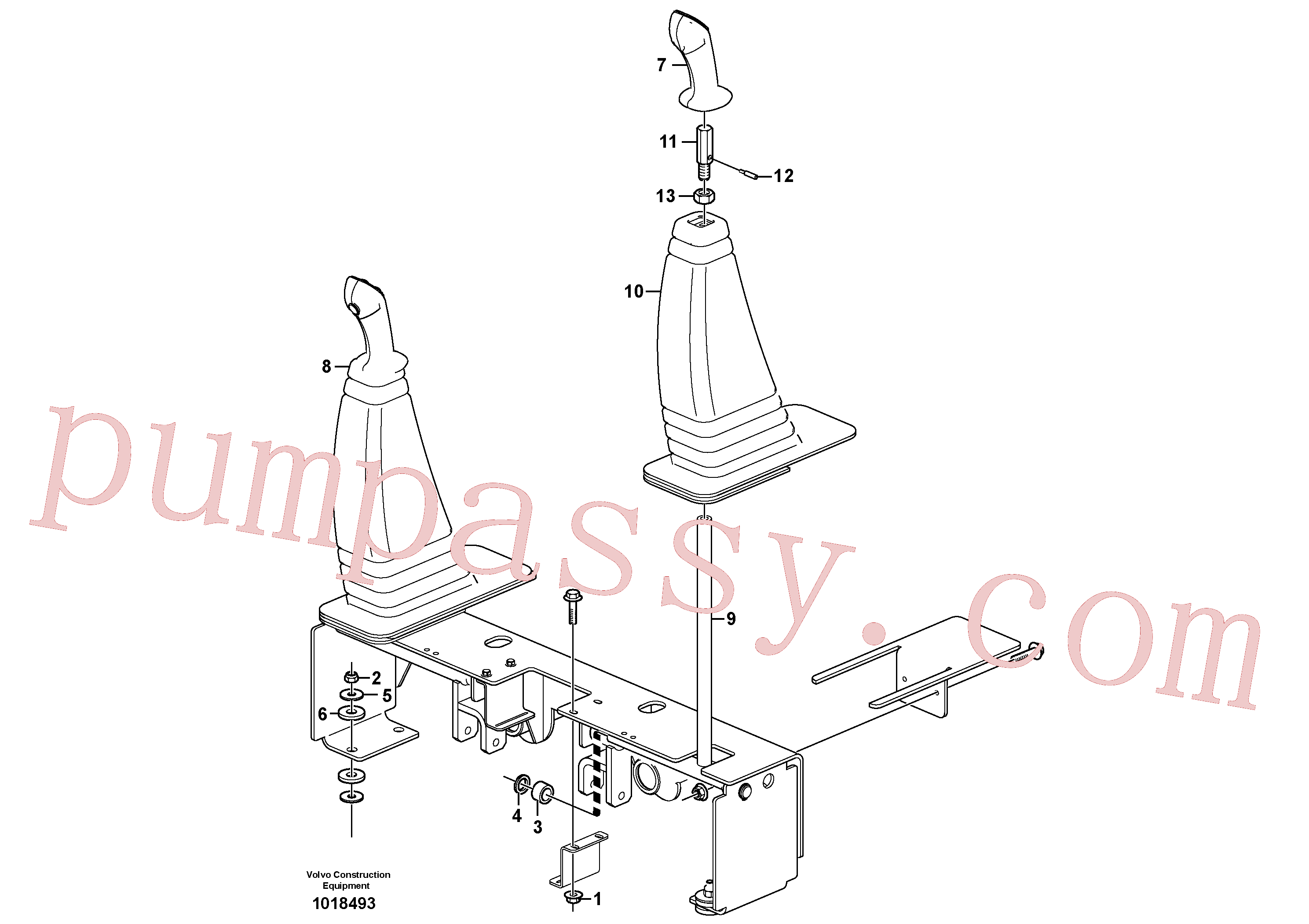 VOE11841243 for Volvo Optional hand controls(1018493 assembly)