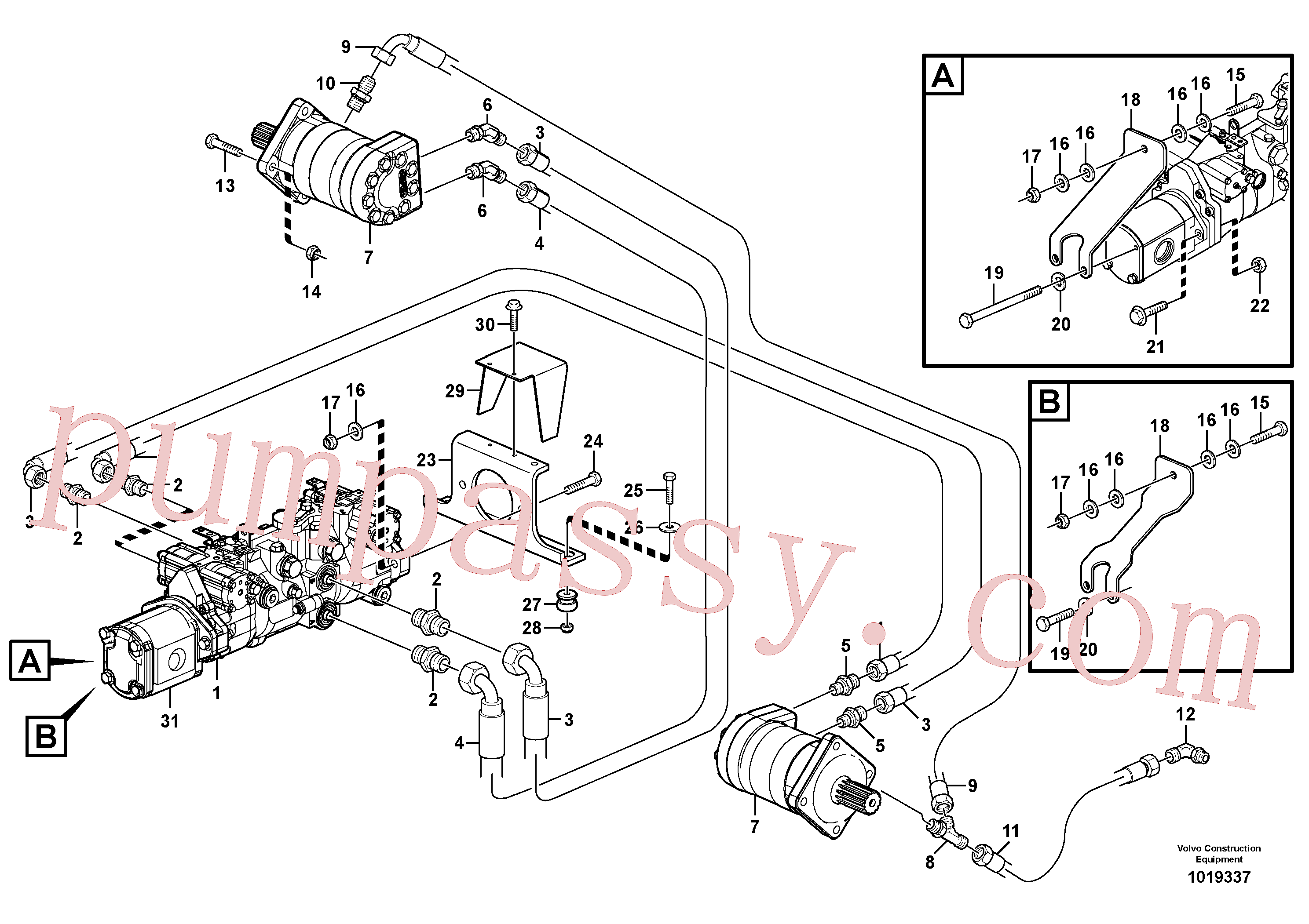 VOE11841125 for Volvo Hydraulic system Transport(1019337 assembly)