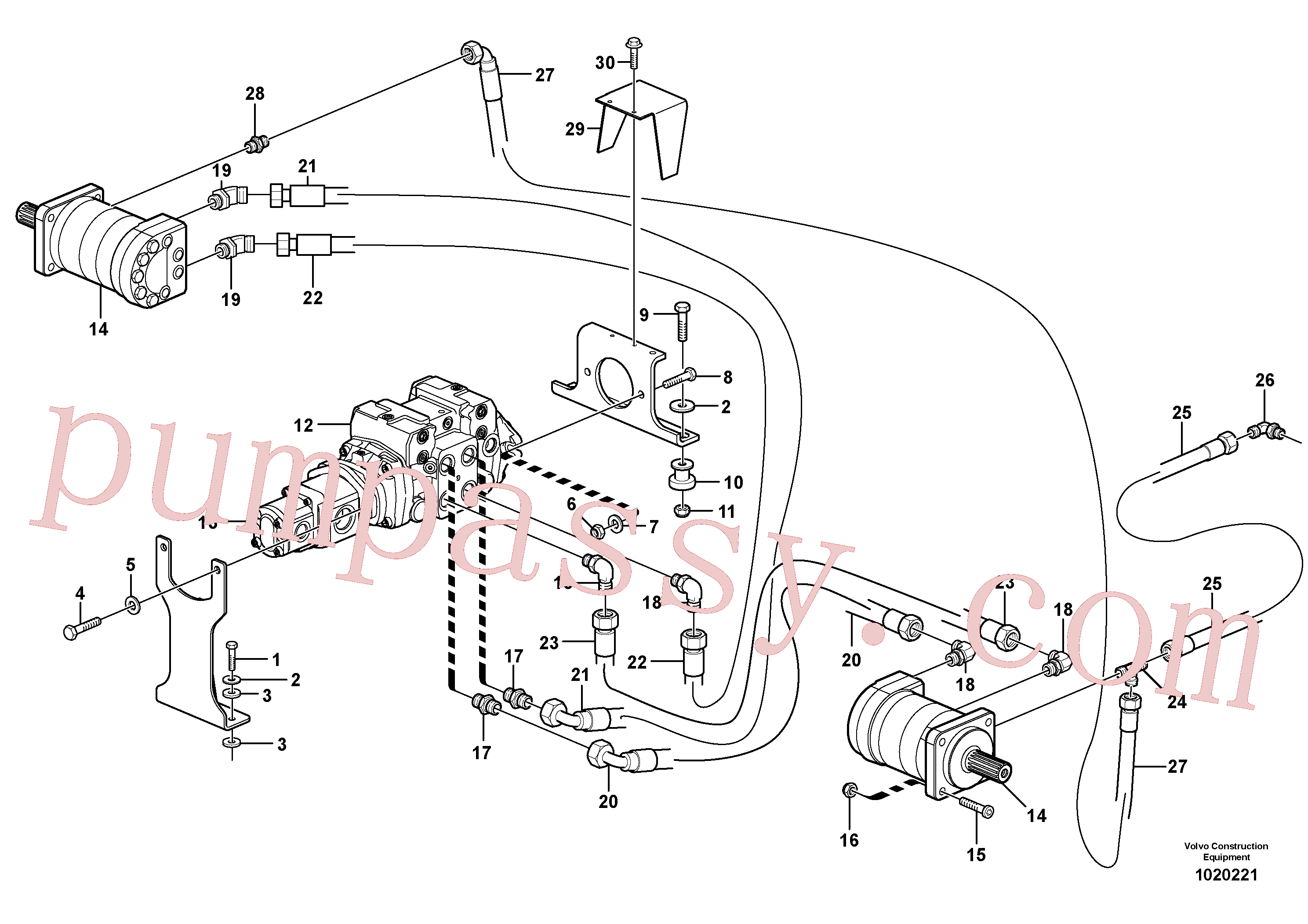 VOE11841243 for Volvo Hydraulic system Transport(1020221 assembly)